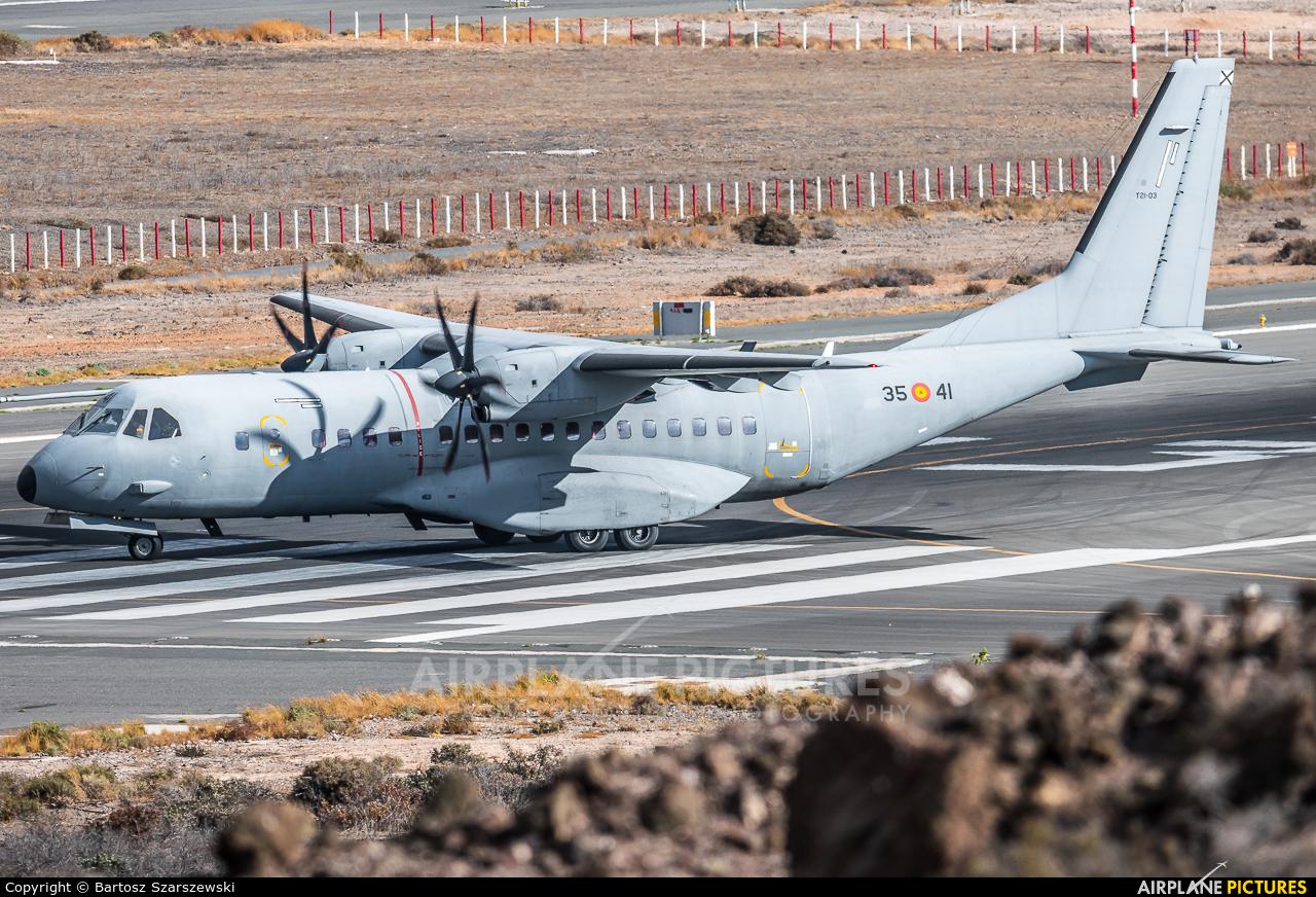 Spain - Air Force T.21-03 aircraft at Aeropuerto de Gran Canaria