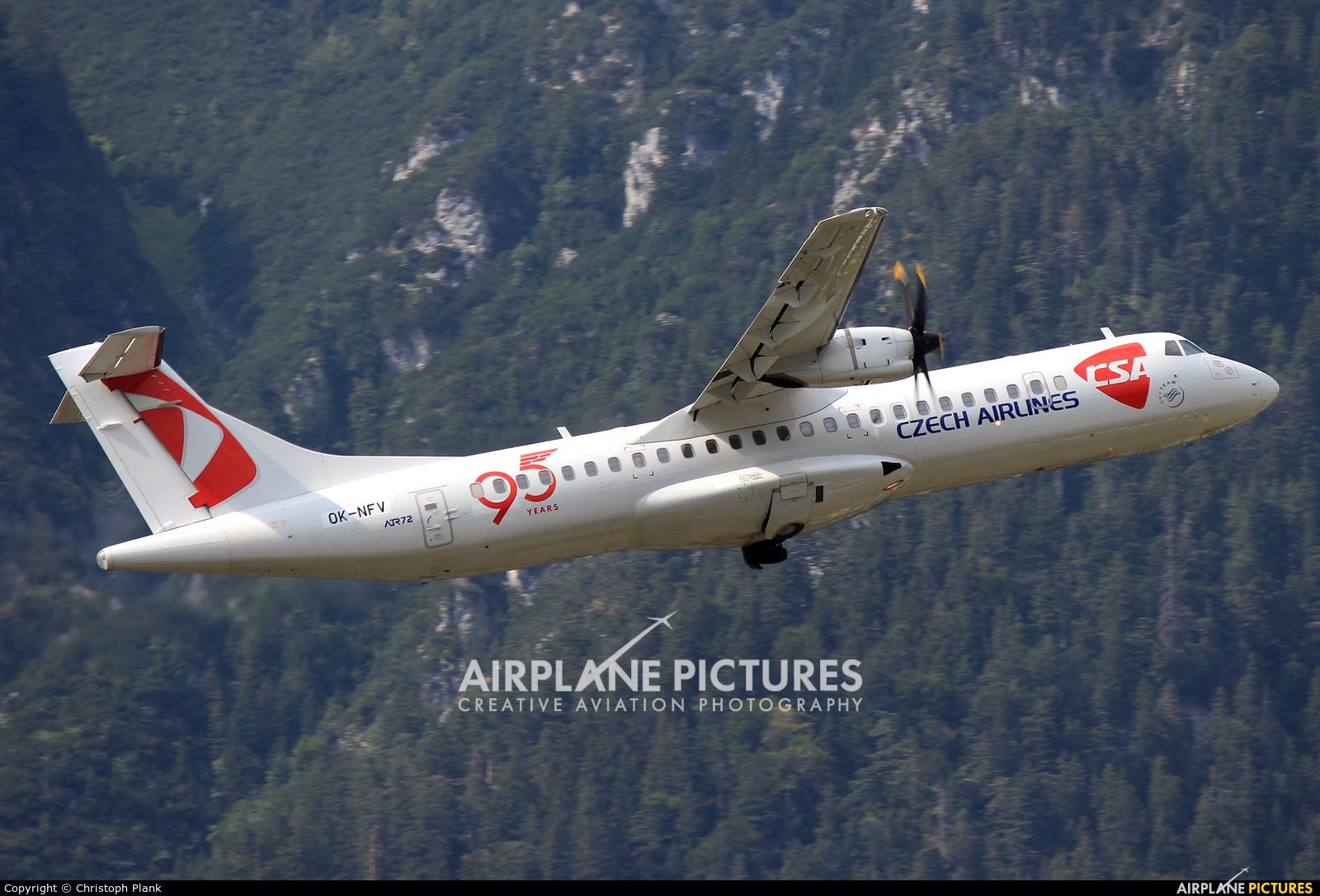 Czech Air Service OK-NFV aircraft at Innsbruck