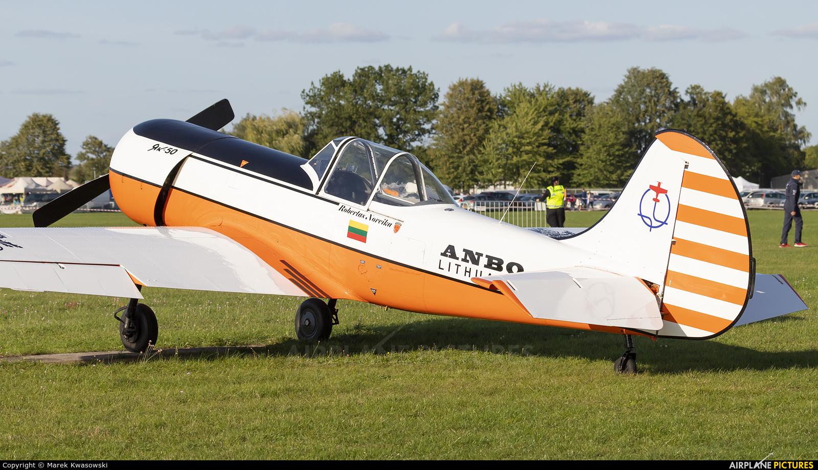 ANBO aerobatic team LY-ANP aircraft at Leszno - Strzyżewice