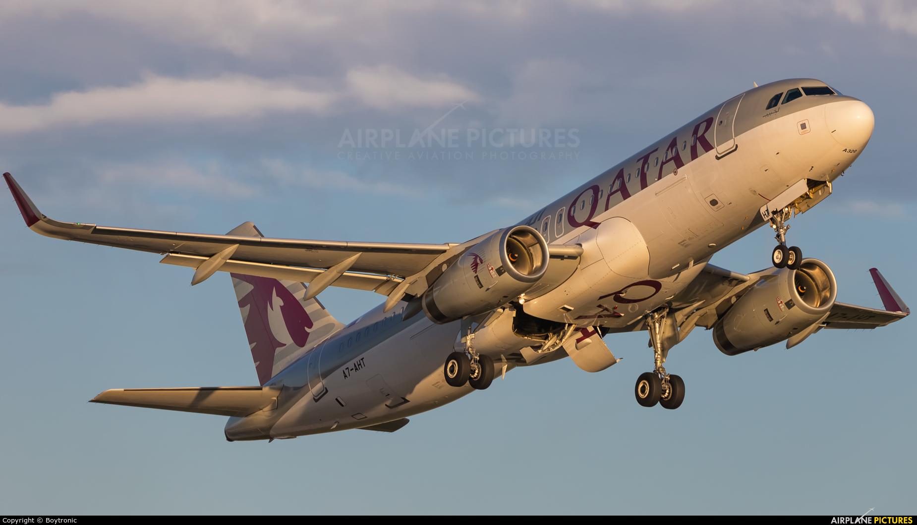 Qatar Airways A7-AHT aircraft at Zagreb