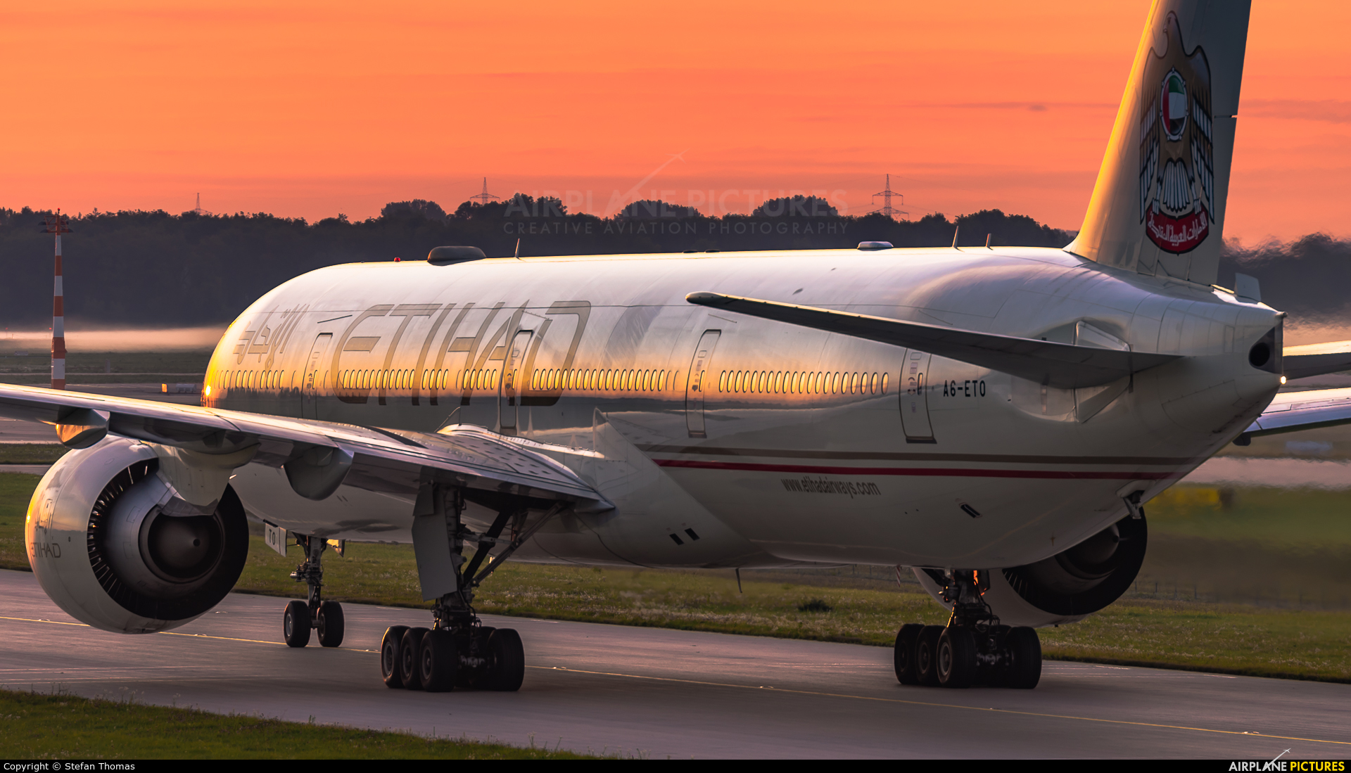 Etihad Airways A6-ETO aircraft at Munich
