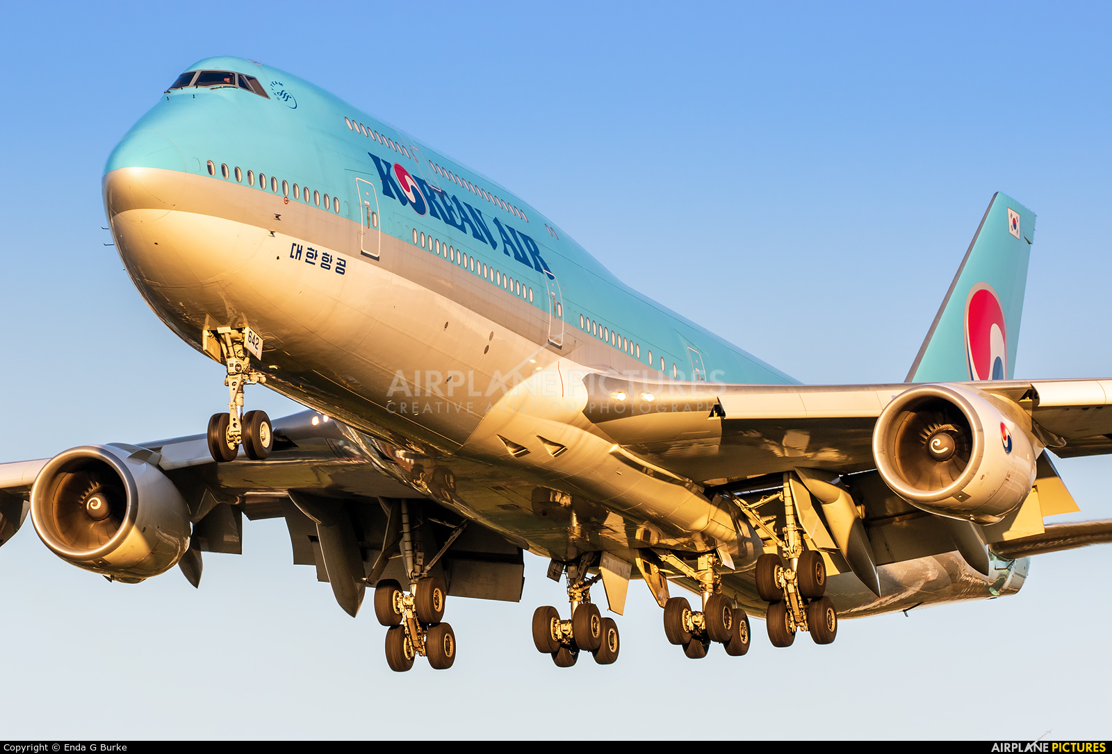 Korean Air HL7642 aircraft at London - Heathrow