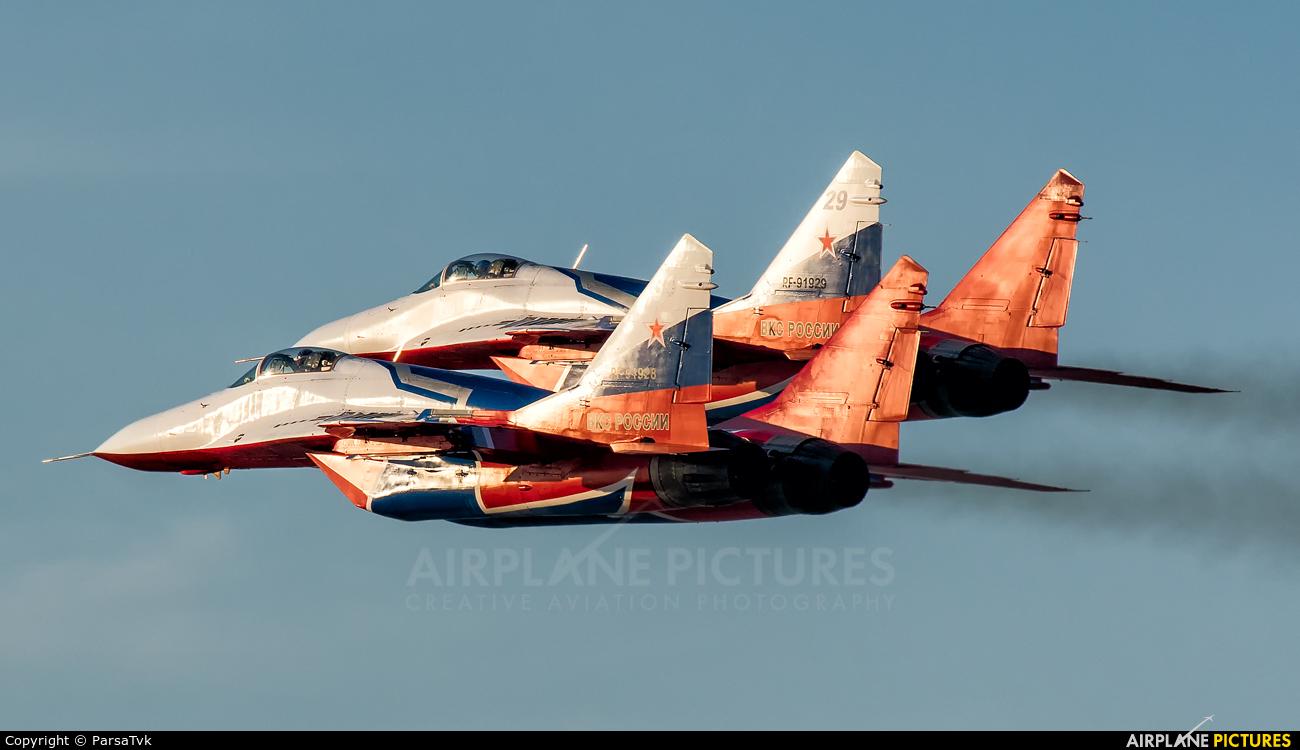 """Russia - Air Force """"Strizhi"""" RF-91928 aircraft at Kish Island"""