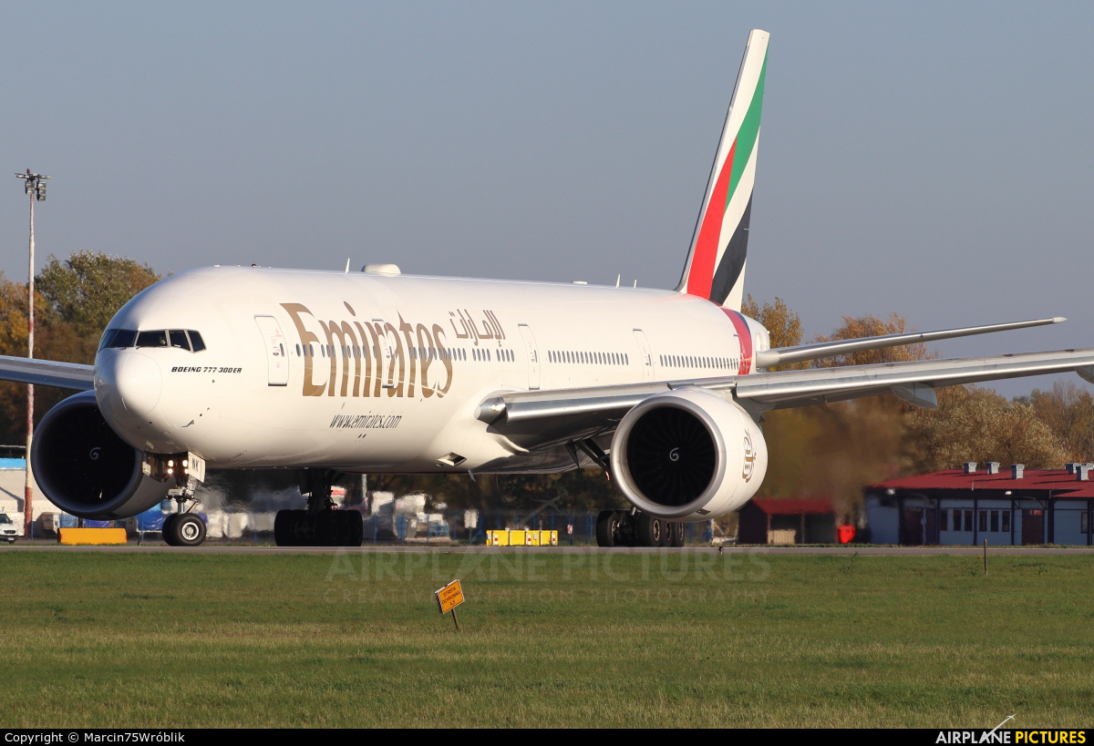 Emirates Airlines A6-ENK aircraft at Warsaw - Frederic Chopin