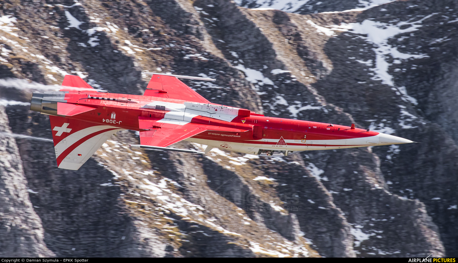 Switzerland - Air Force:  Patrouille de Suisse J-3084 aircraft at Axalp - Ebenfluh Range