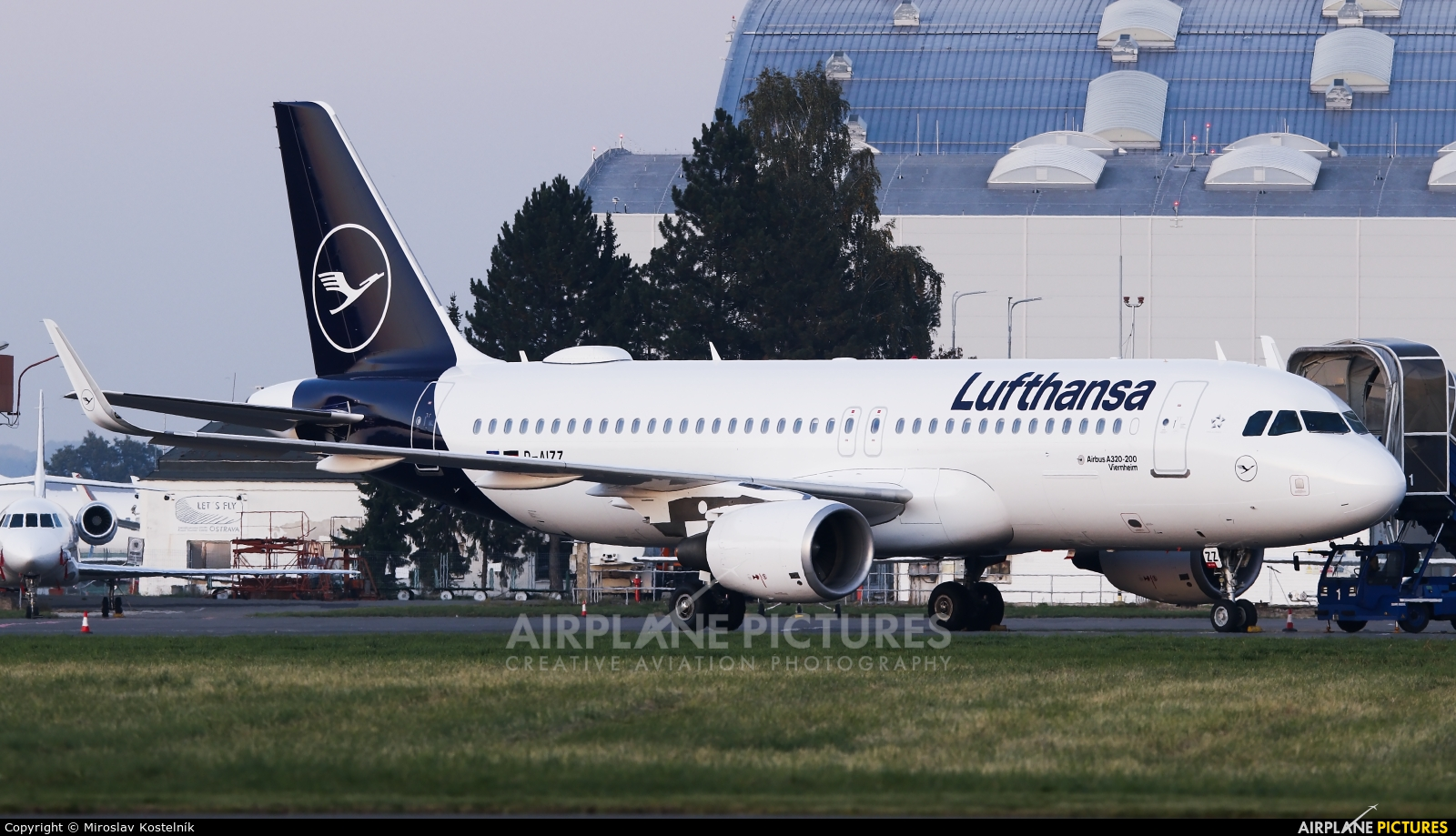 Lufthansa D-AIZZ aircraft at Ostrava Mošnov