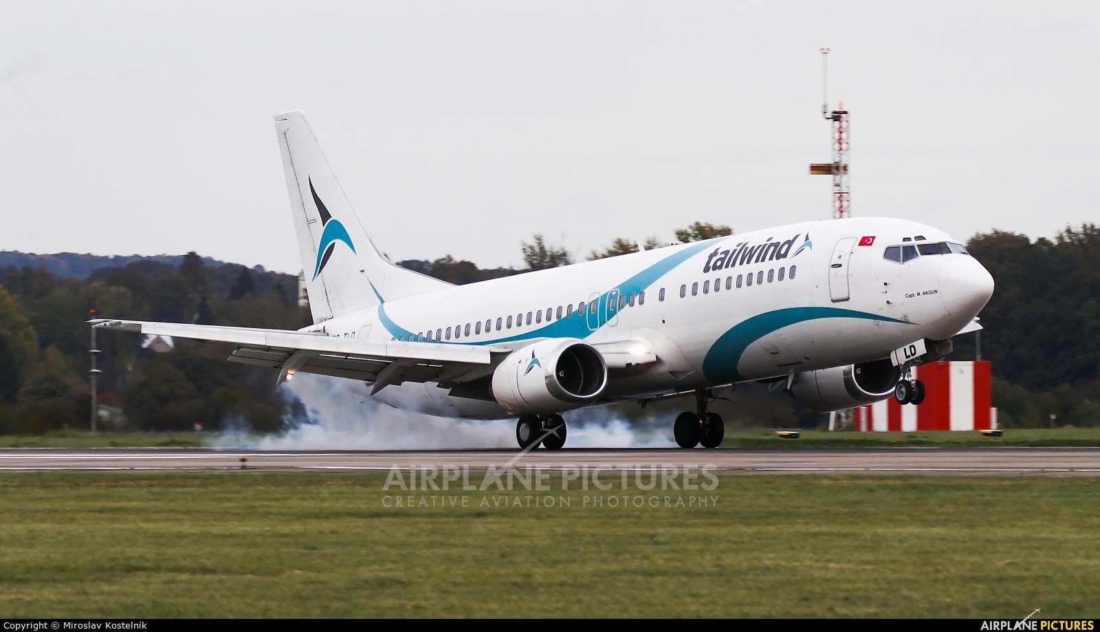 Tailwind Airlines TC-TLD aircraft at Ostrava Mošnov