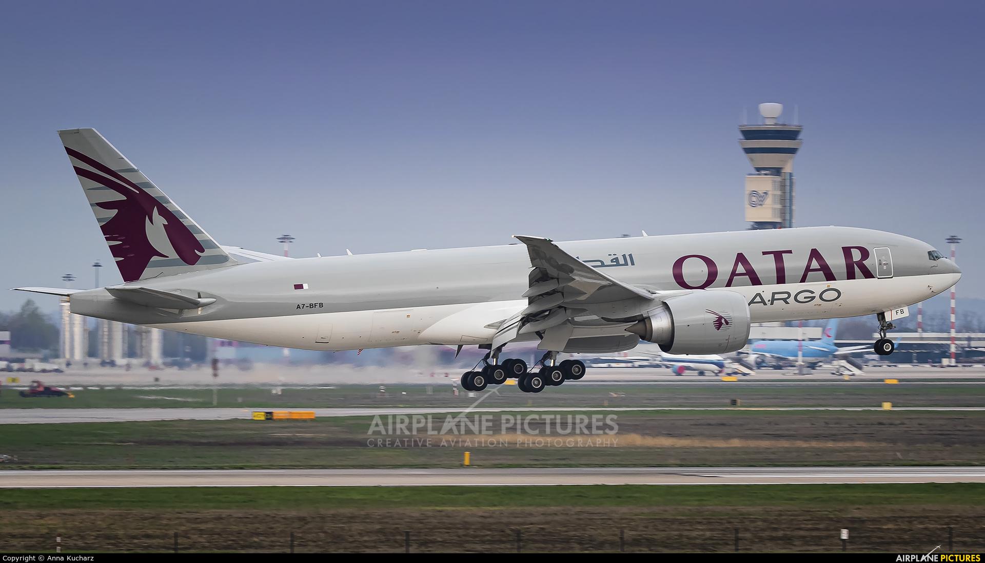 Qatar Airways Cargo A7-BFB aircraft at Milan - Malpensa