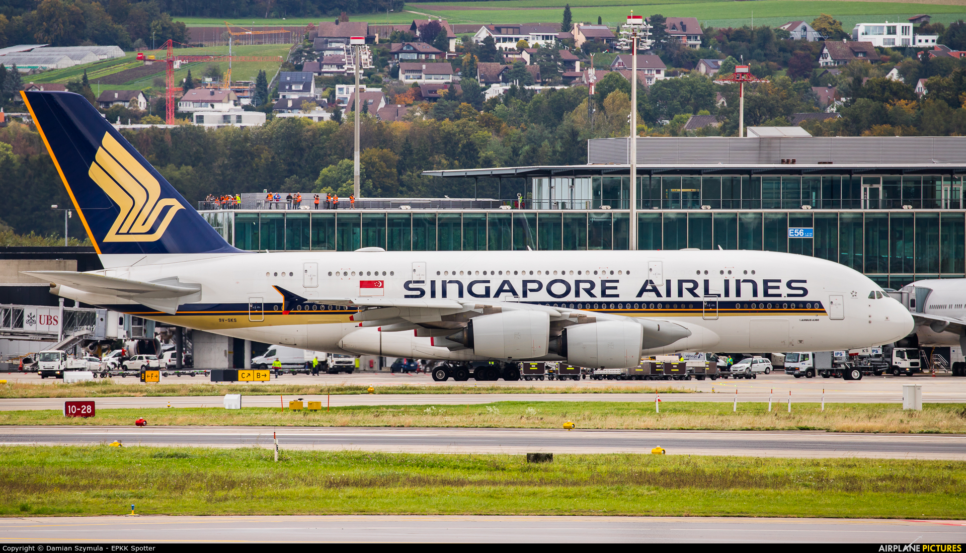 Singapore Airlines 9V-SKS aircraft at Zurich