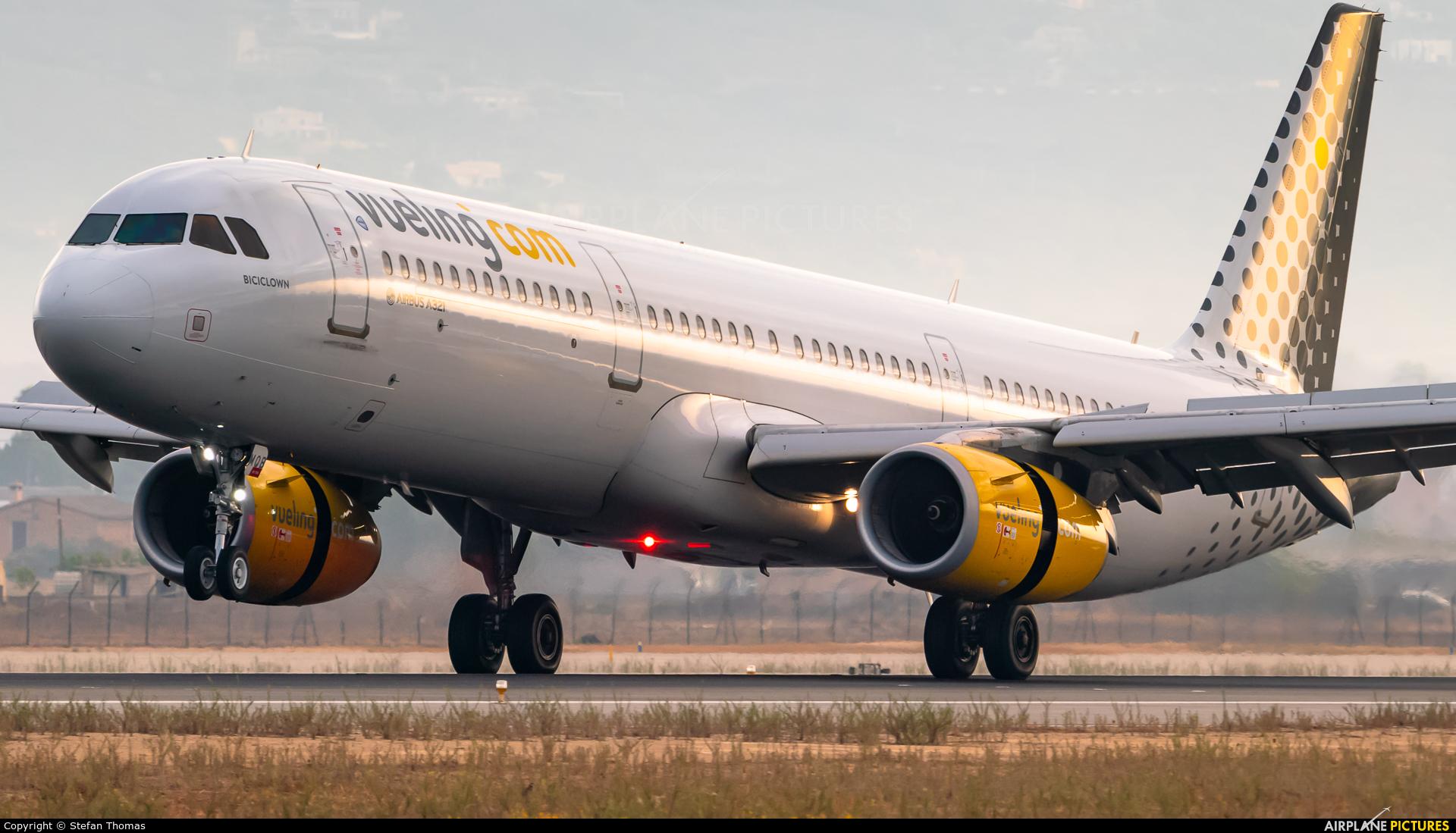 Vueling Airlines EC-MQB aircraft at Palma de Mallorca