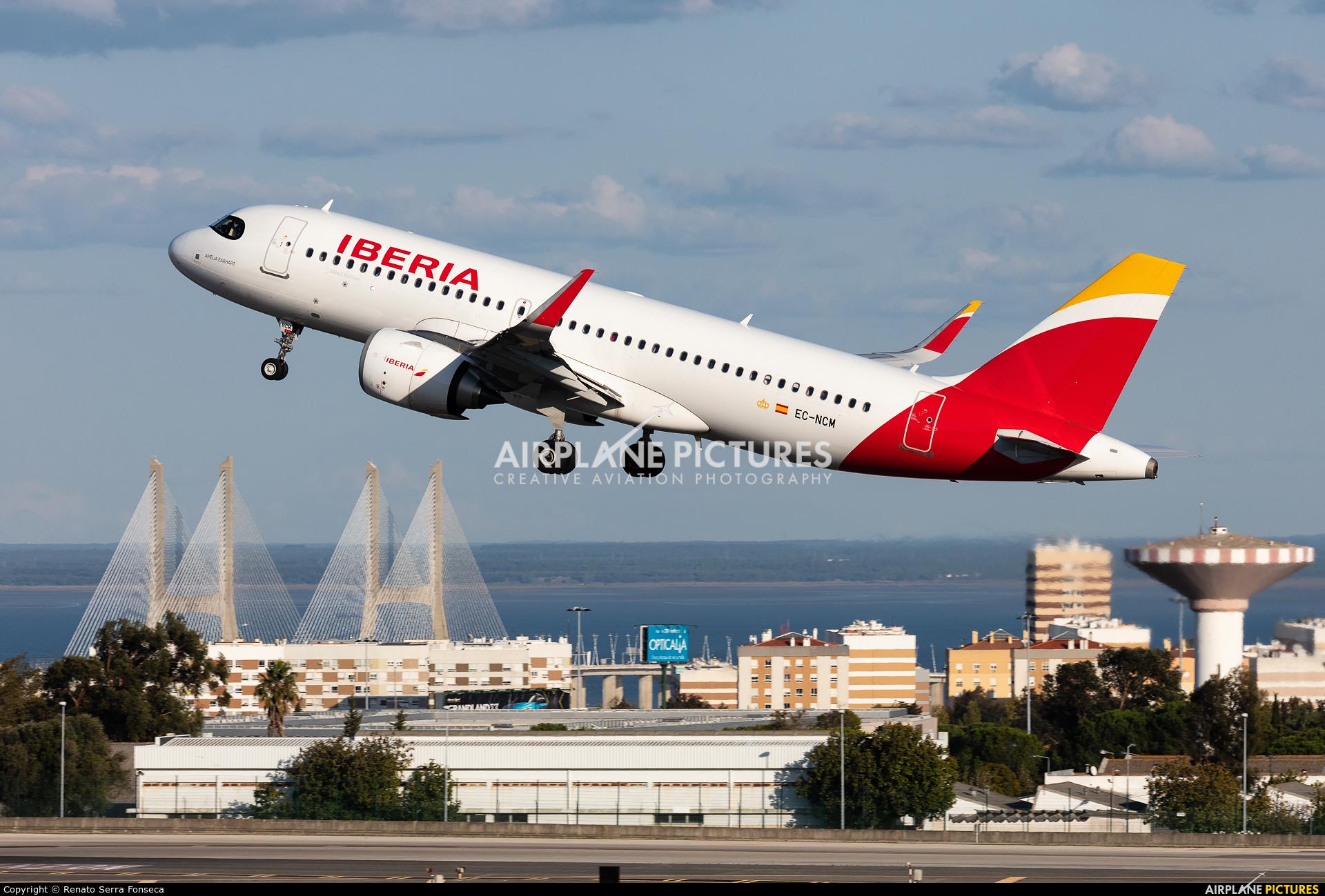 Iberia EC-NCM aircraft at Lisbon