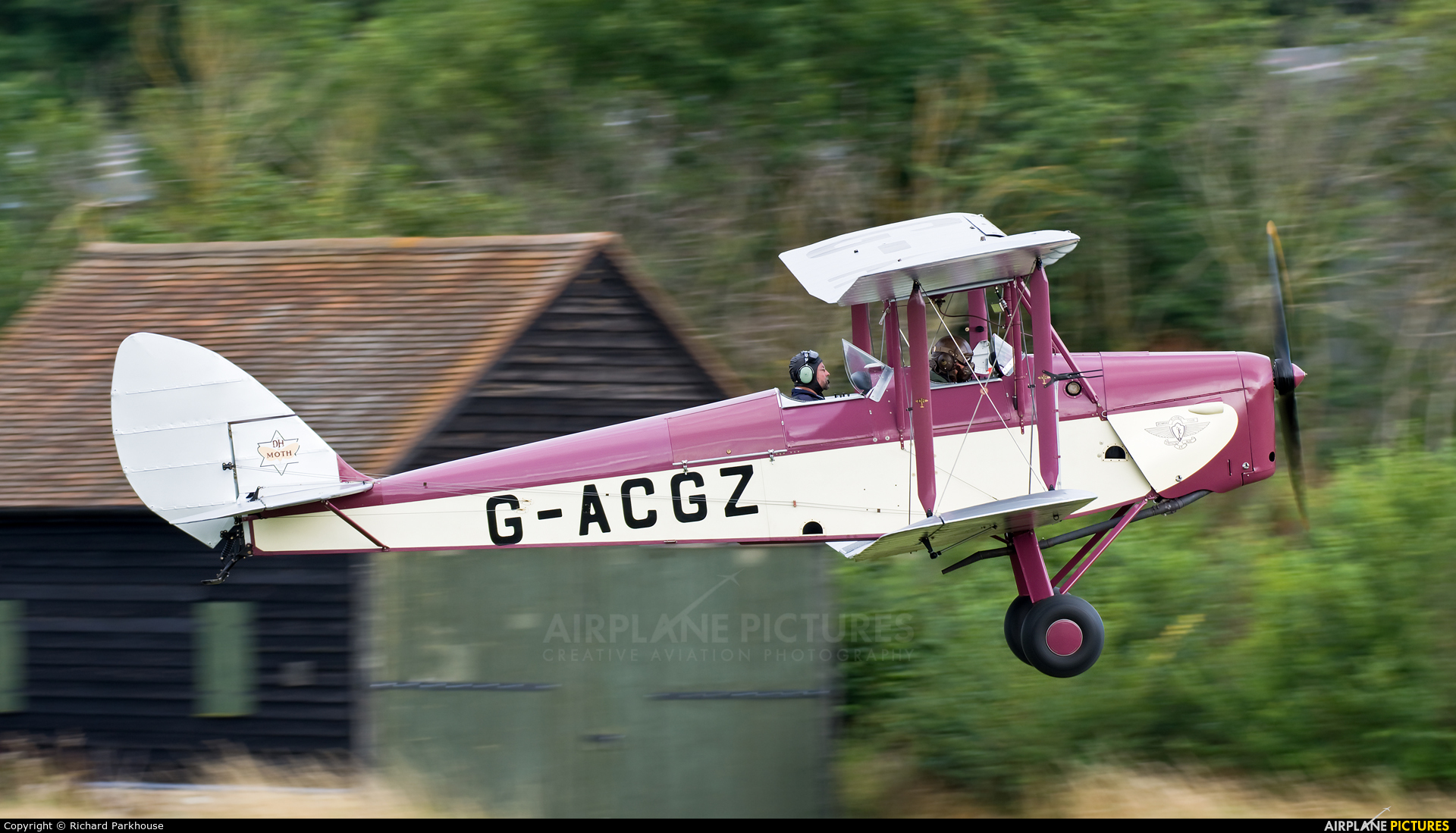 Private G-ACGZ aircraft at Old Warden