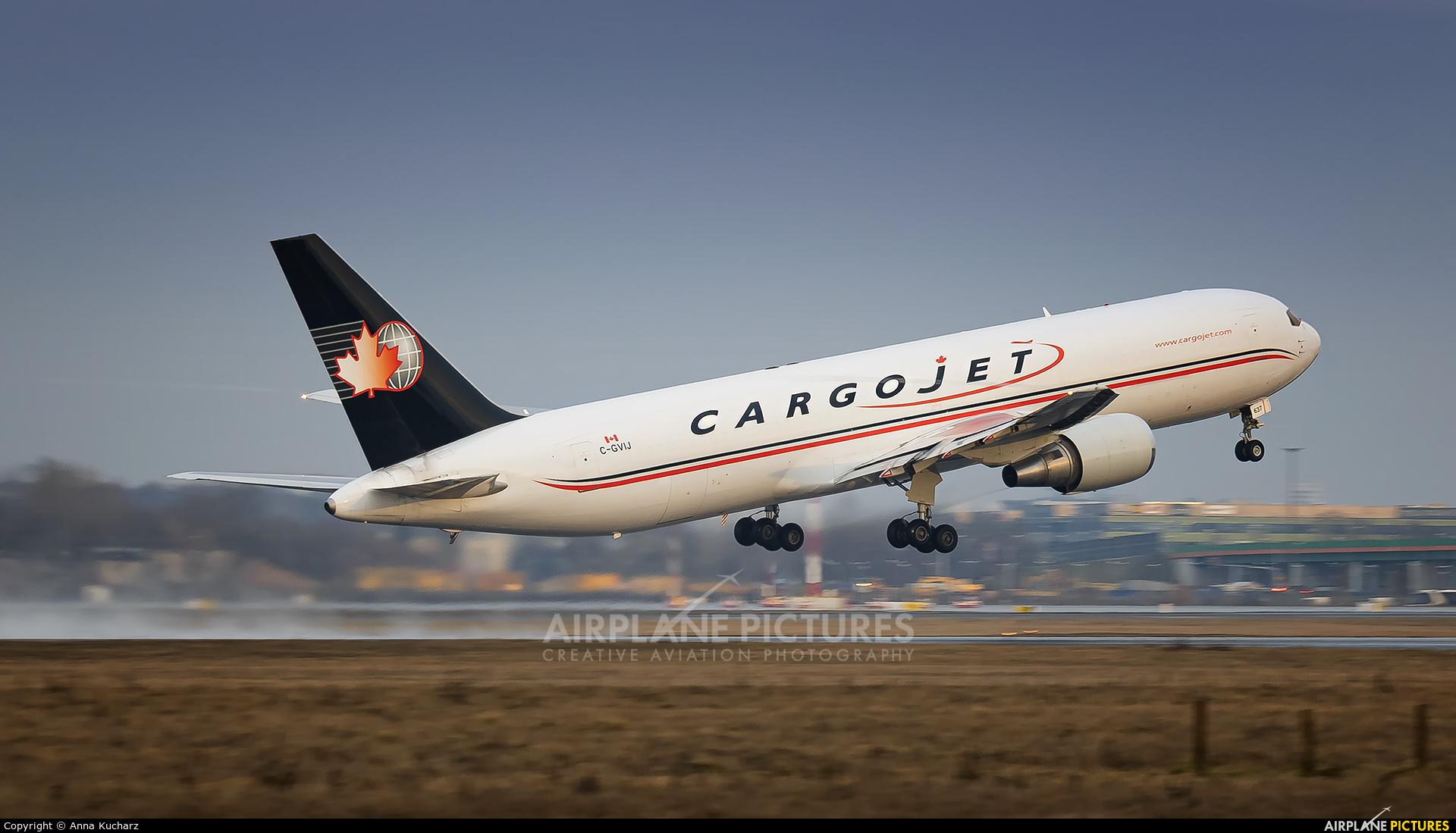 Cargojet Airways C-GVIJ aircraft at Warsaw - Frederic Chopin