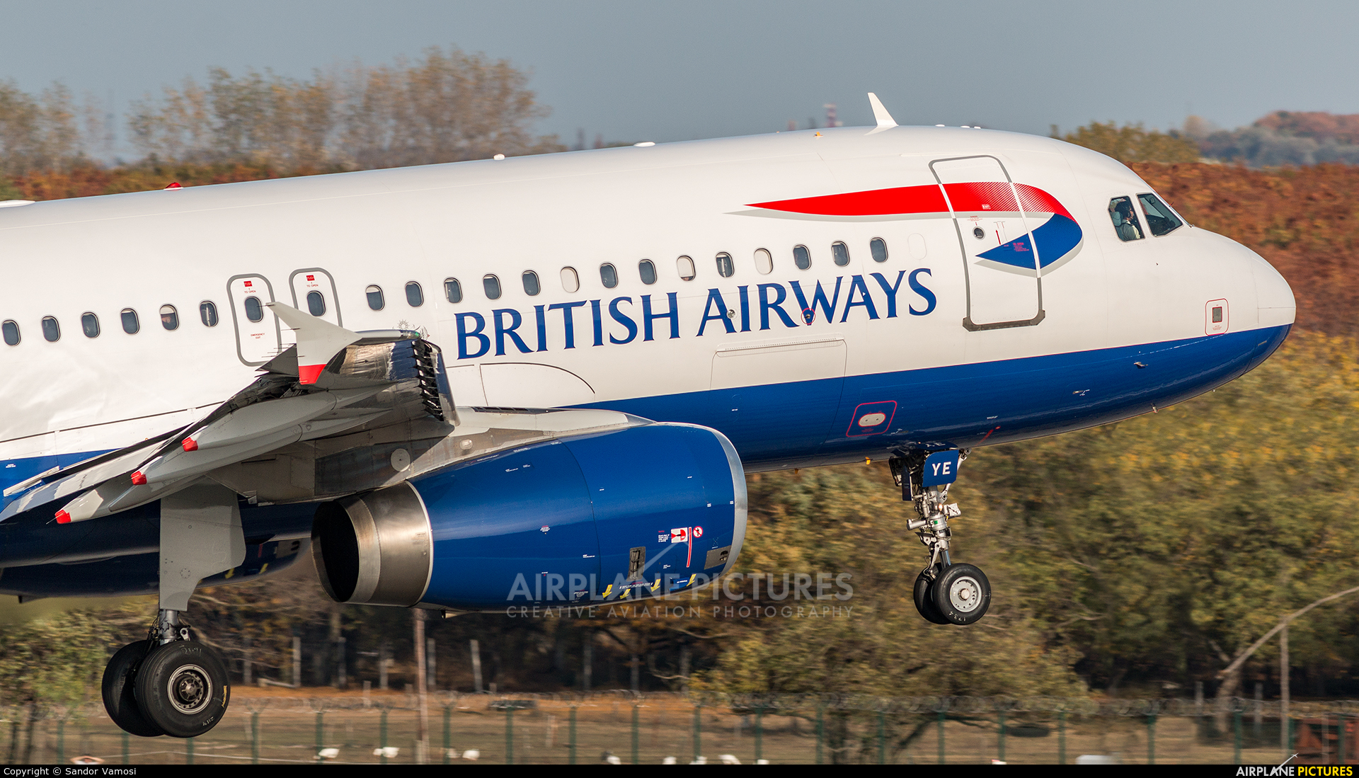 British Airways G-EUYE aircraft at Budapest Ferenc Liszt International Airport
