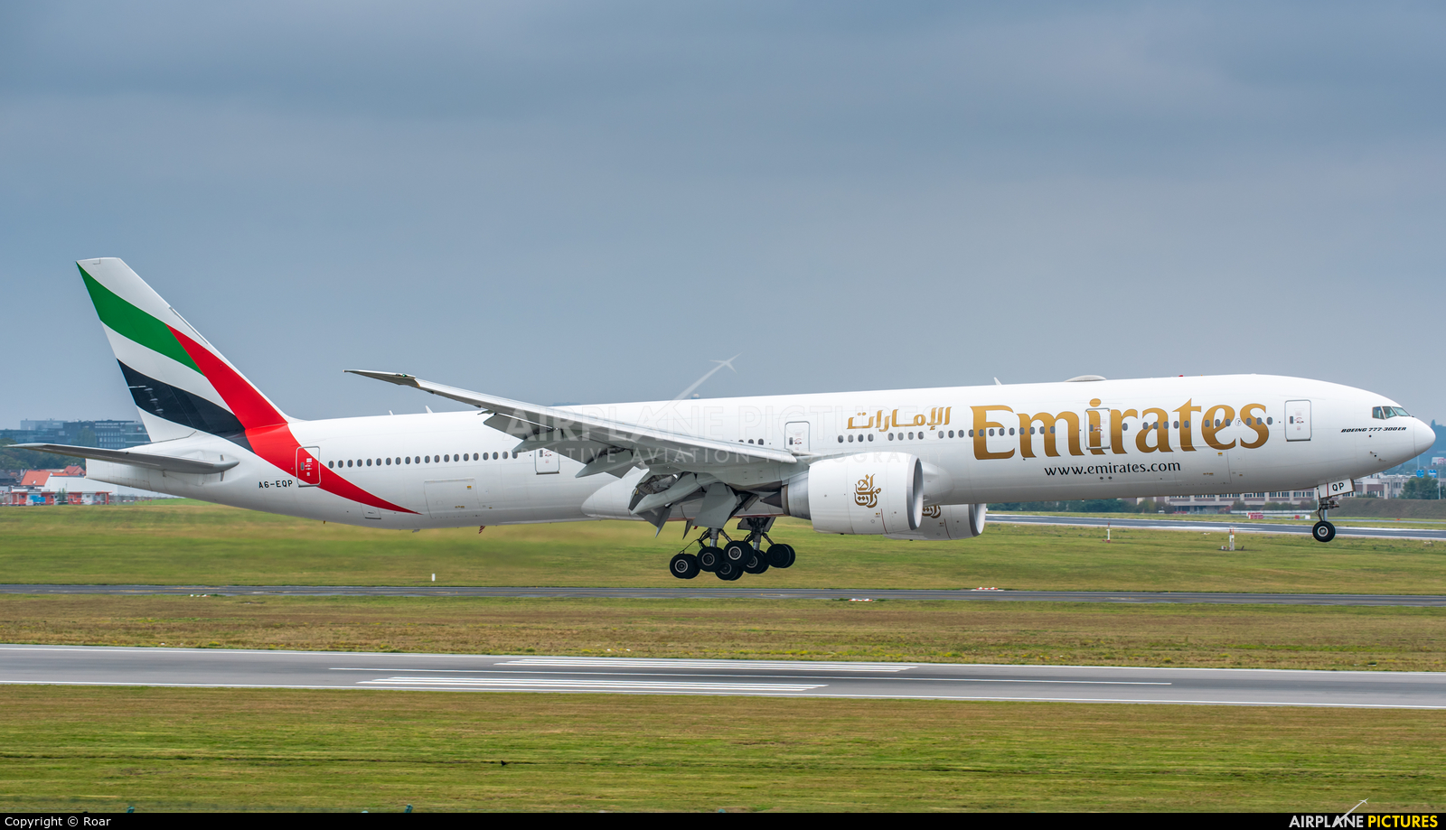 Emirates Airlines A6-EQP aircraft at Brussels - Zaventem