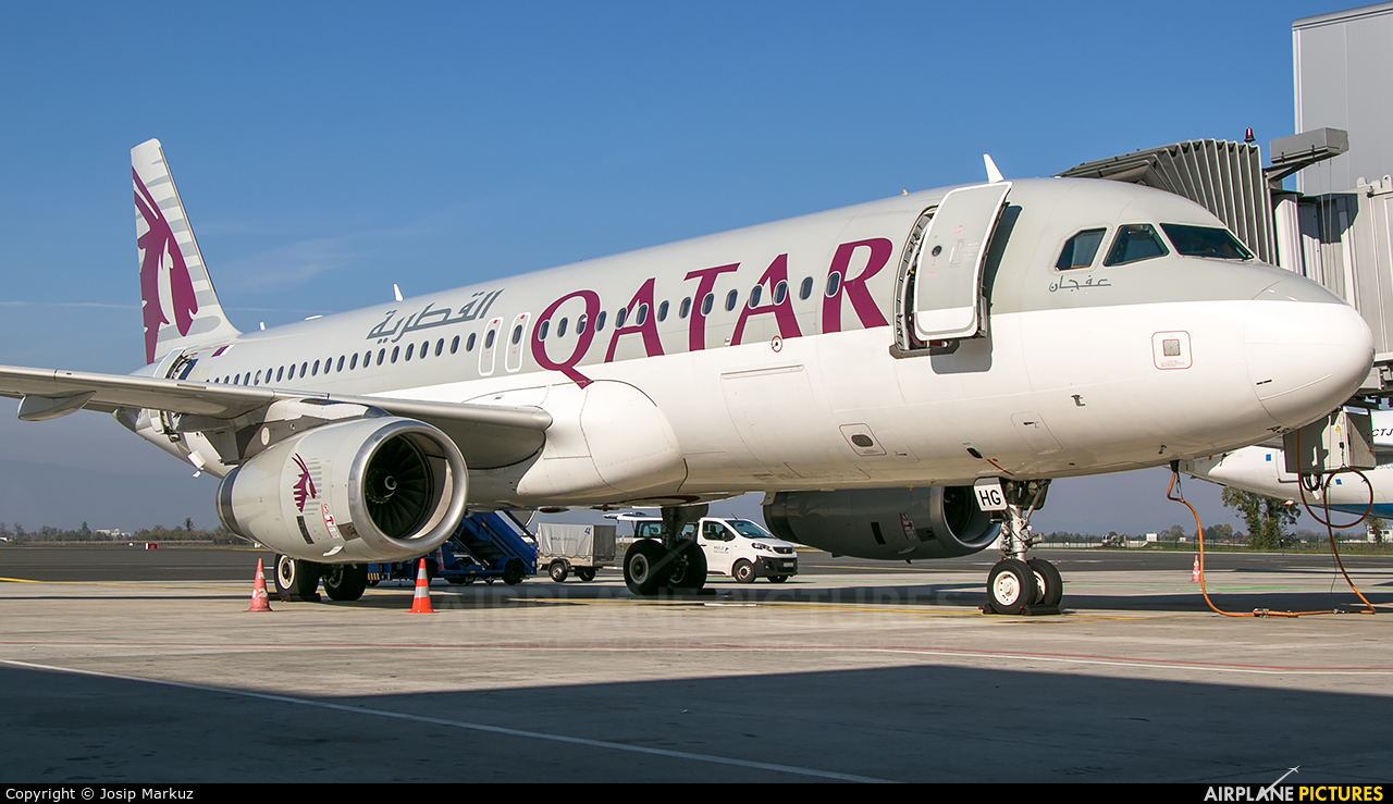 Qatar Airways A7-AHG aircraft at Zagreb