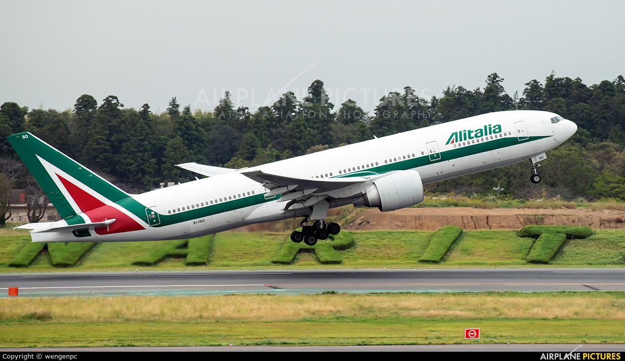 Alitalia EI-ISO aircraft at Tokyo - Narita Intl