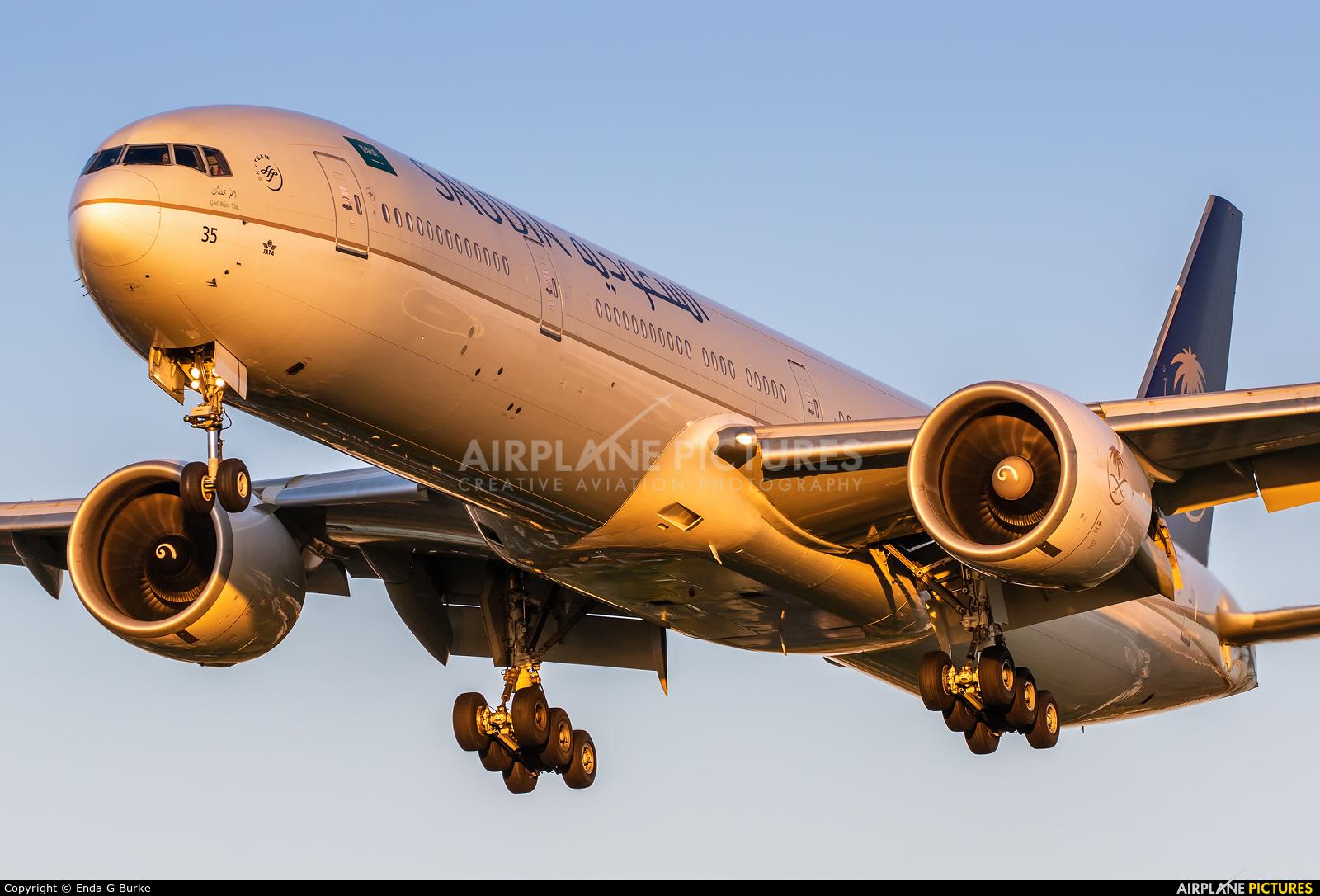 Saudi Arabian Airlines HZ-AK35 aircraft at London - Heathrow