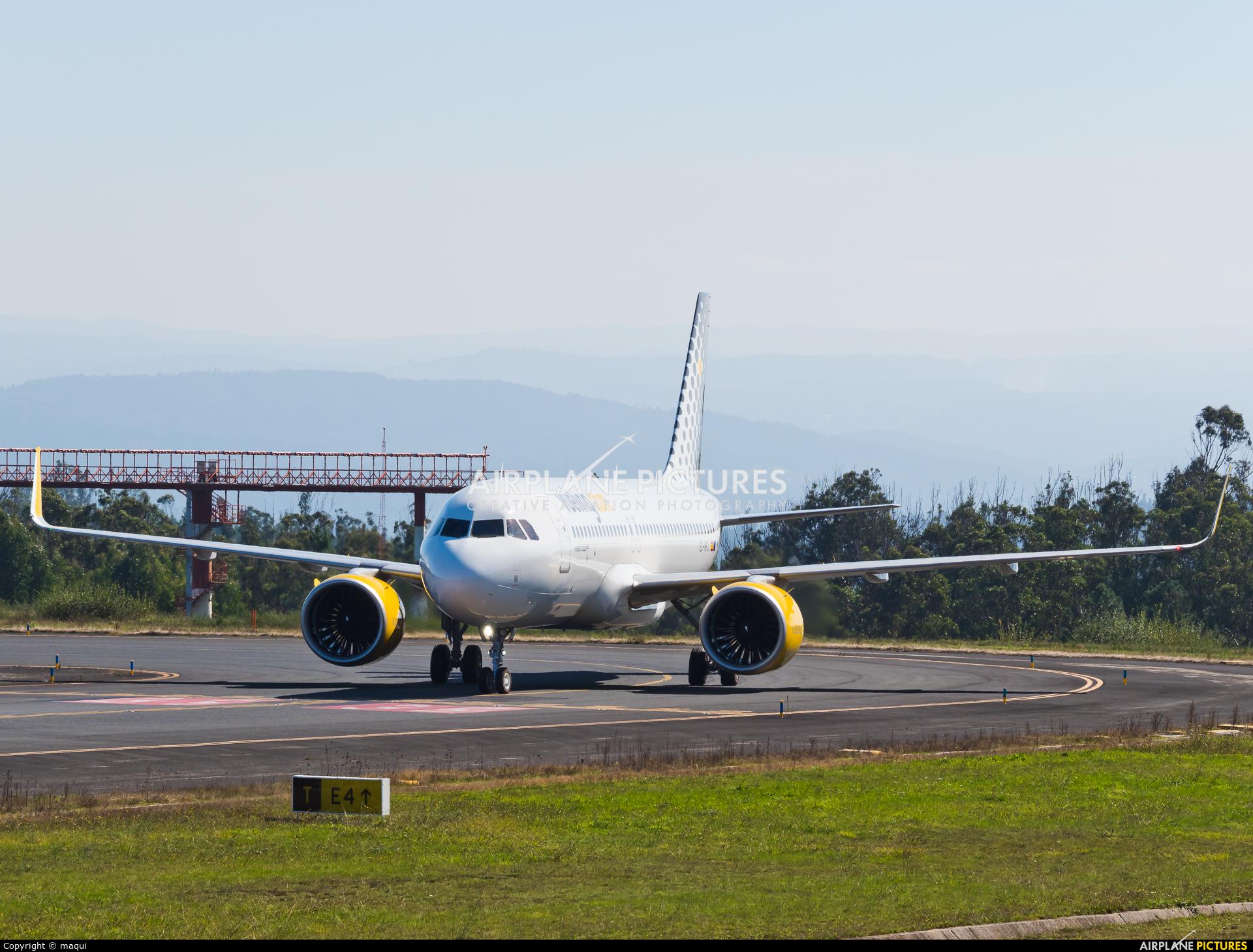 Vueling Airlines EC-NFJ aircraft at Santiago de Compostela