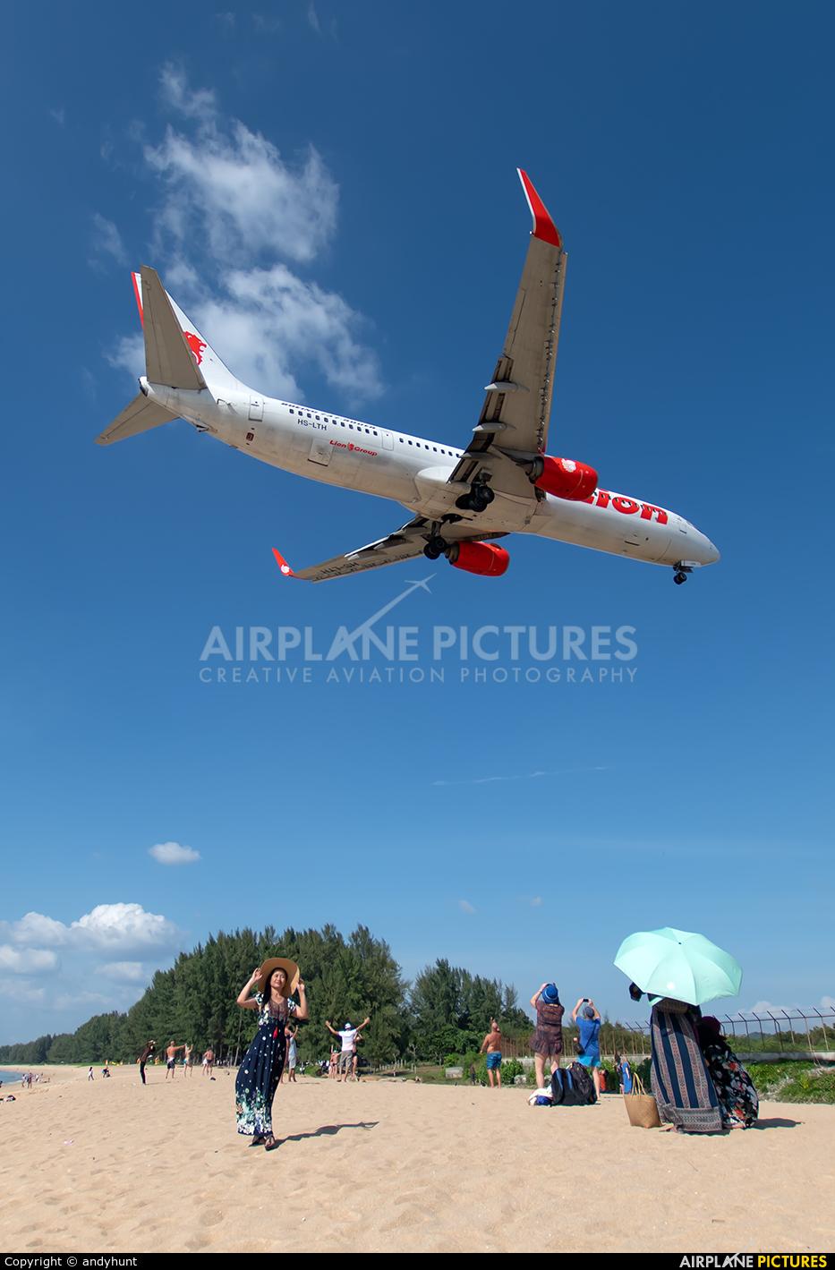 Thai Lion Air HS-LTH aircraft at Phuket