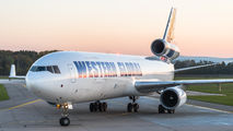 Rare visit of Western Global MD-11F to Pardubice title=