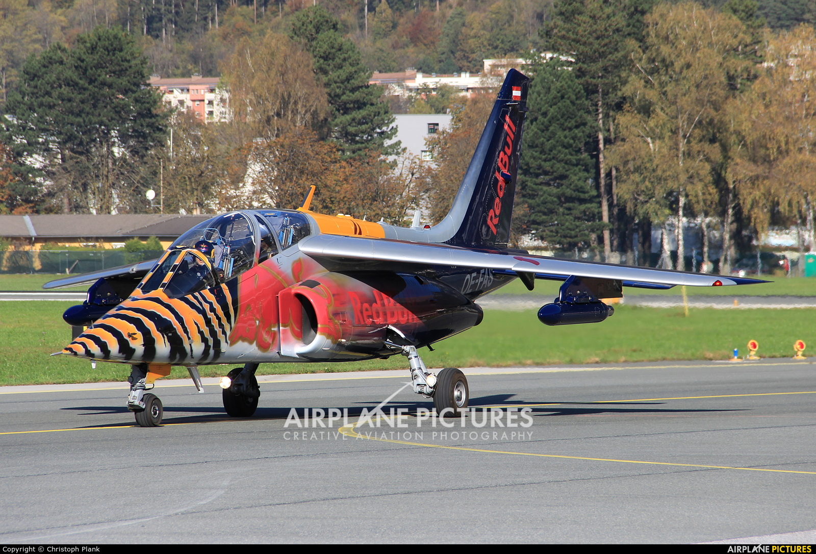 Red Bull OE-FAS aircraft at Innsbruck
