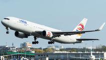 Rare visit of Arkia Boeing 767 to Warsaw title=
