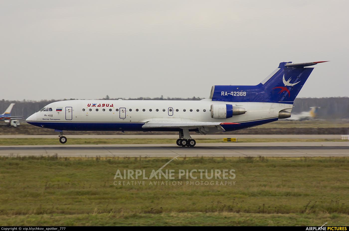 Izhavia RA-42368 aircraft at Moscow - Domodedovo