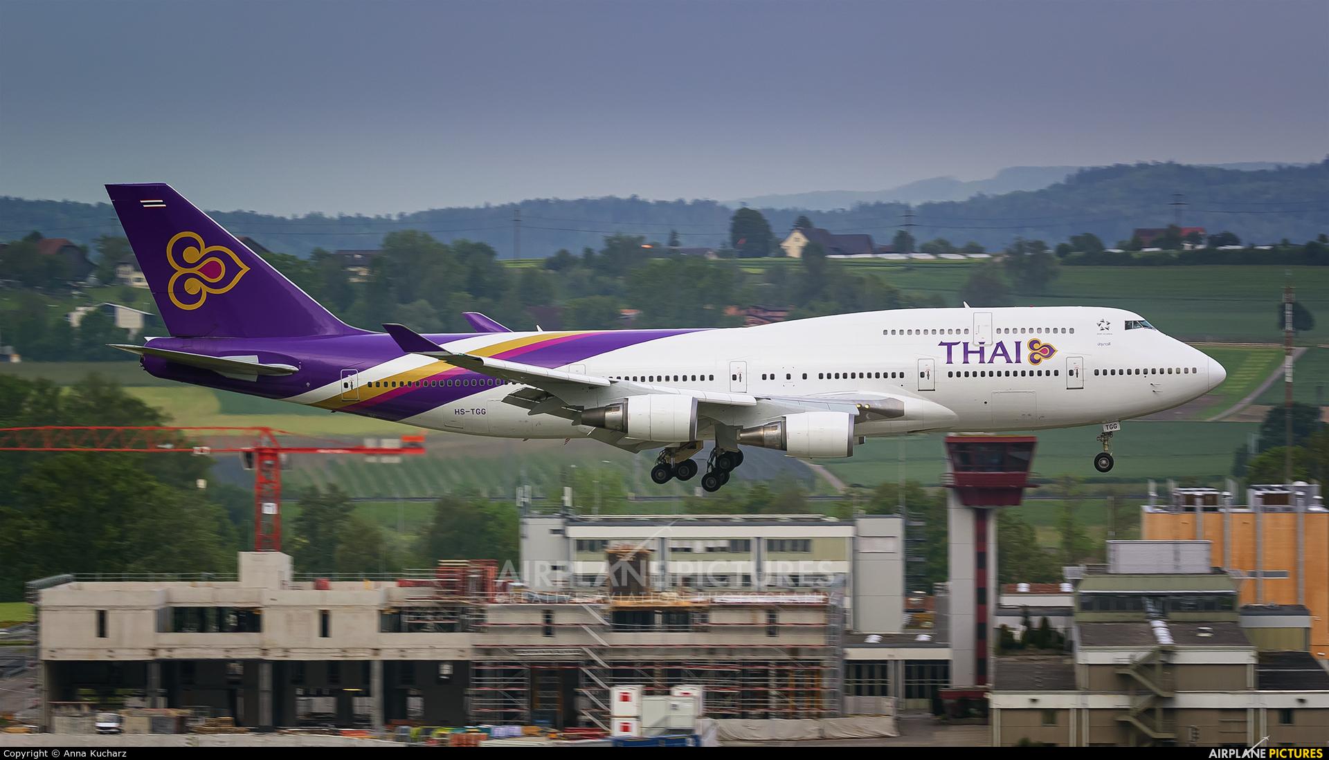 Thai Airways HS-TGG aircraft at Zurich