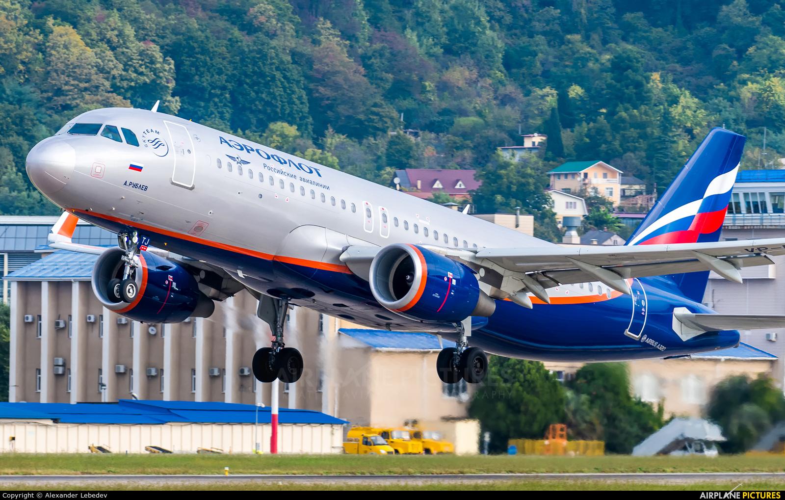 Aeroflot VP-BTJ aircraft at Sochi Intl