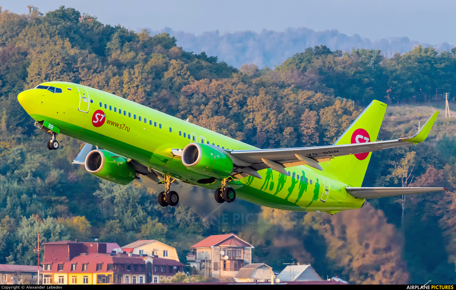 S7 Airlines VQ-BRR aircraft at Sochi Intl