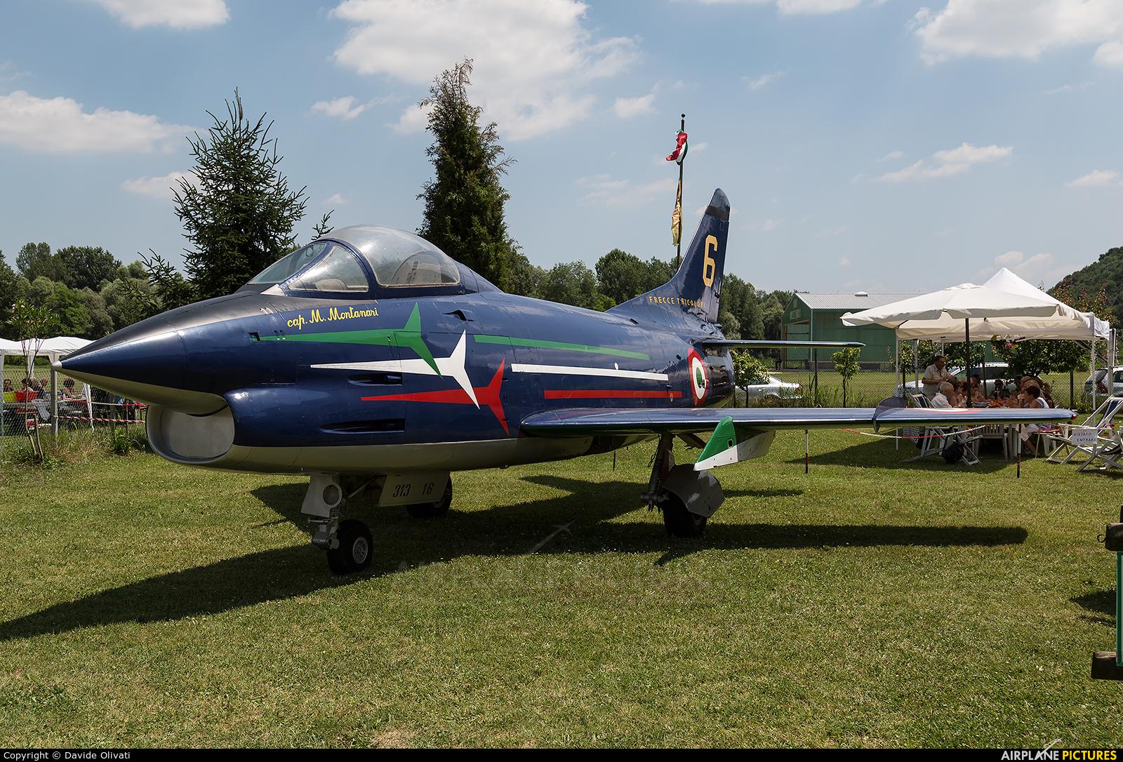 """Italy - Air Force """"Frecce Tricolori"""" MM6264 aircraft at Nervesa della Battaglia"""