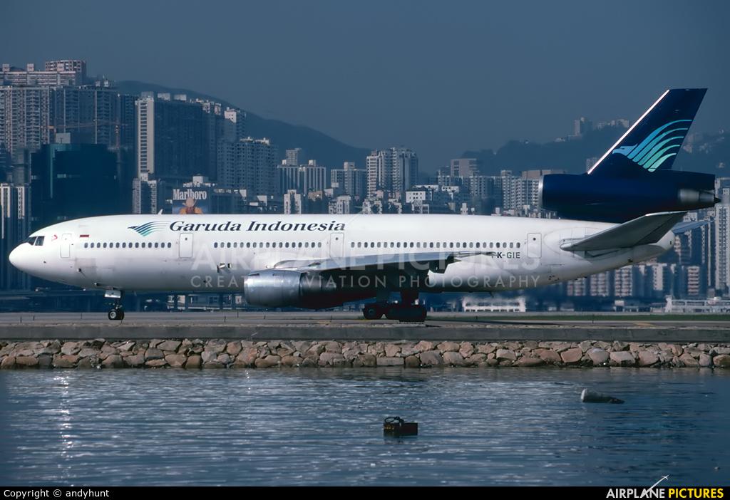 Garuda Indonesia PK-GIE aircraft at HKG - Kai Tak Intl CLOSED