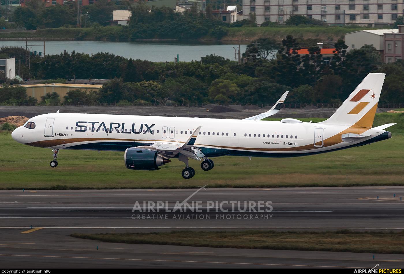 Starlux Airlines B-58201 aircraft at Taipei - Taoyuan Intl