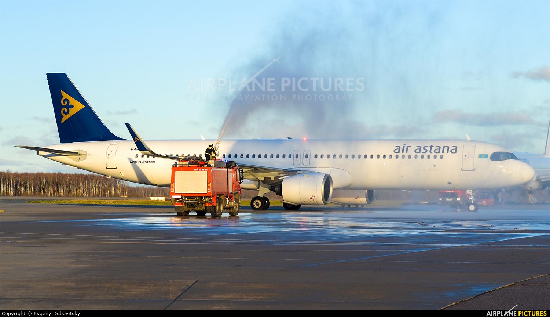 Air Astana P4-KGA aircraft at Moscow - Domodedovo