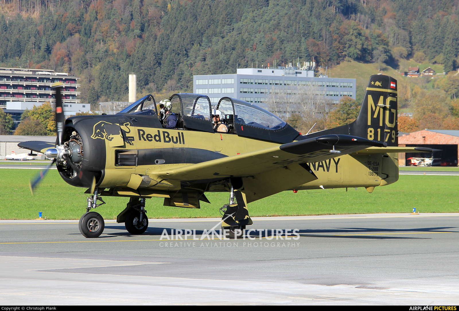 Red Bull OE-ESA aircraft at Innsbruck