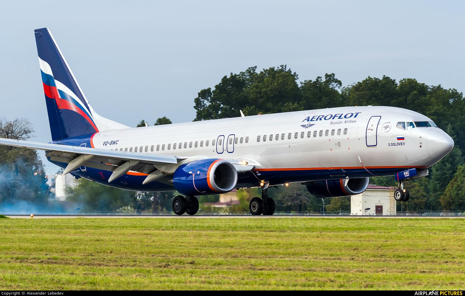 Aeroflot VQ-BWC aircraft at Sochi Intl