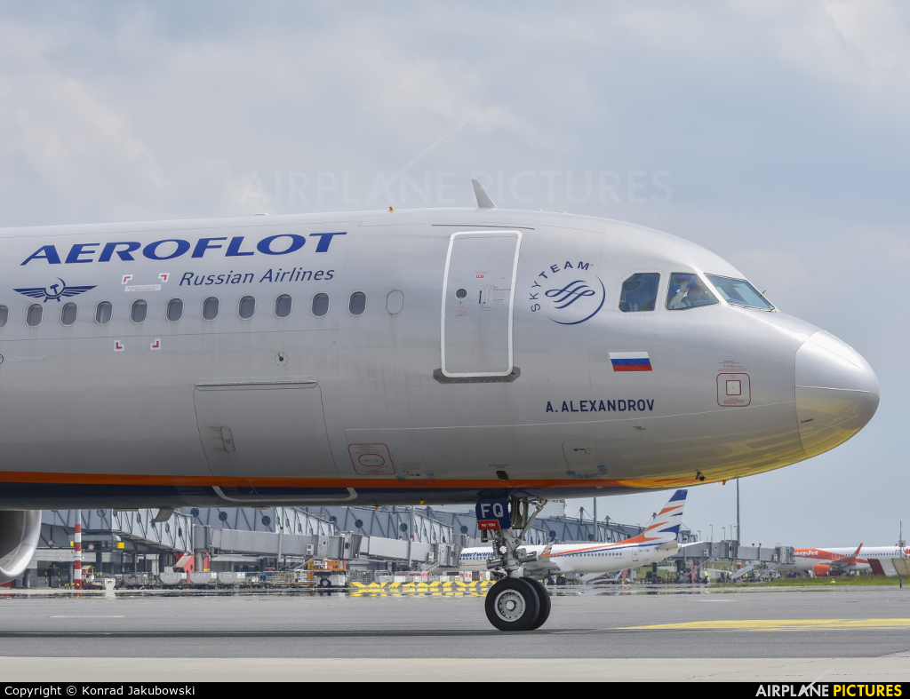 Aeroflot VP-BFQ aircraft at Prague - Václav Havel