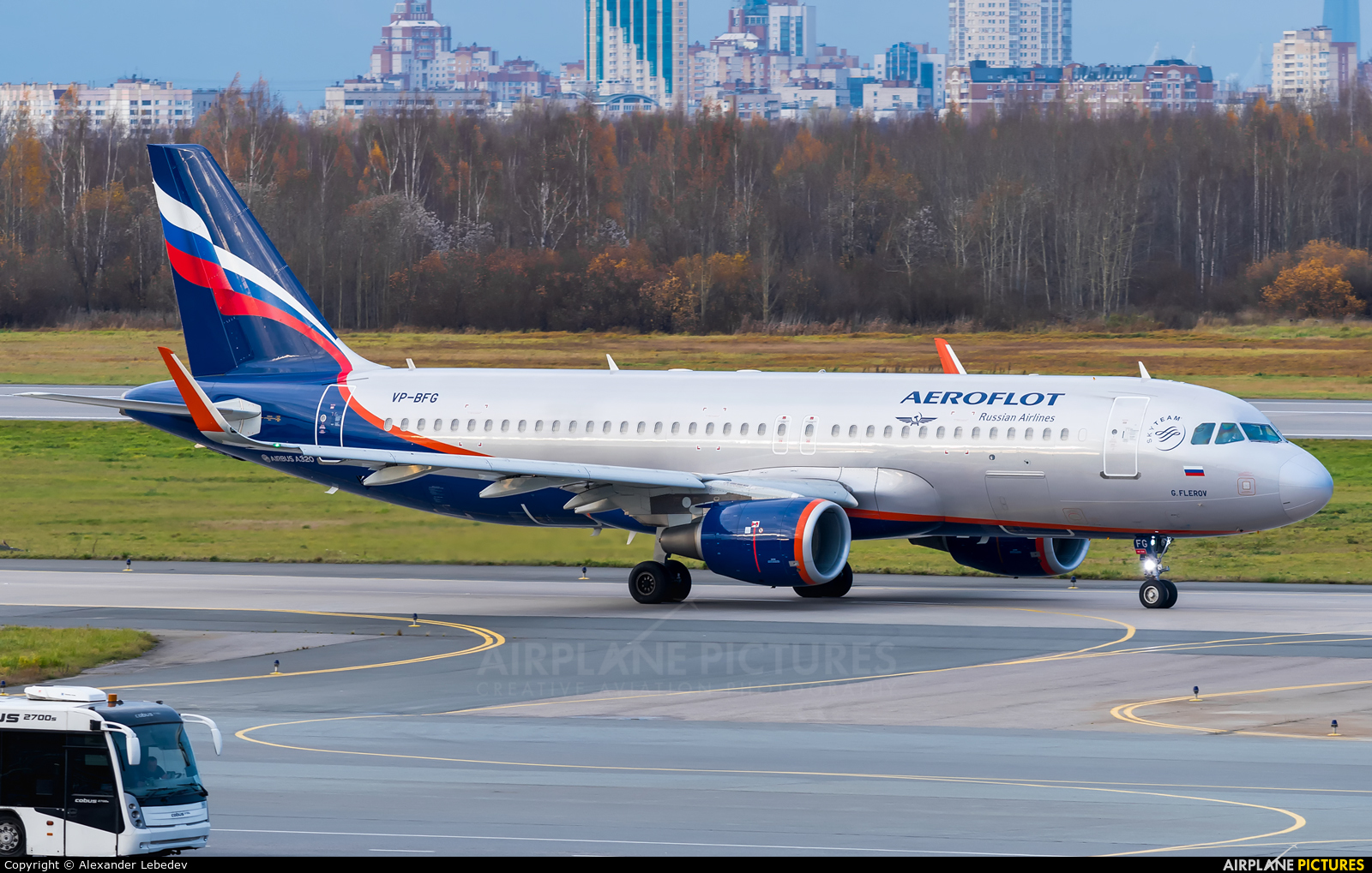 Aeroflot VP-BFG aircraft at St. Petersburg - Pulkovo