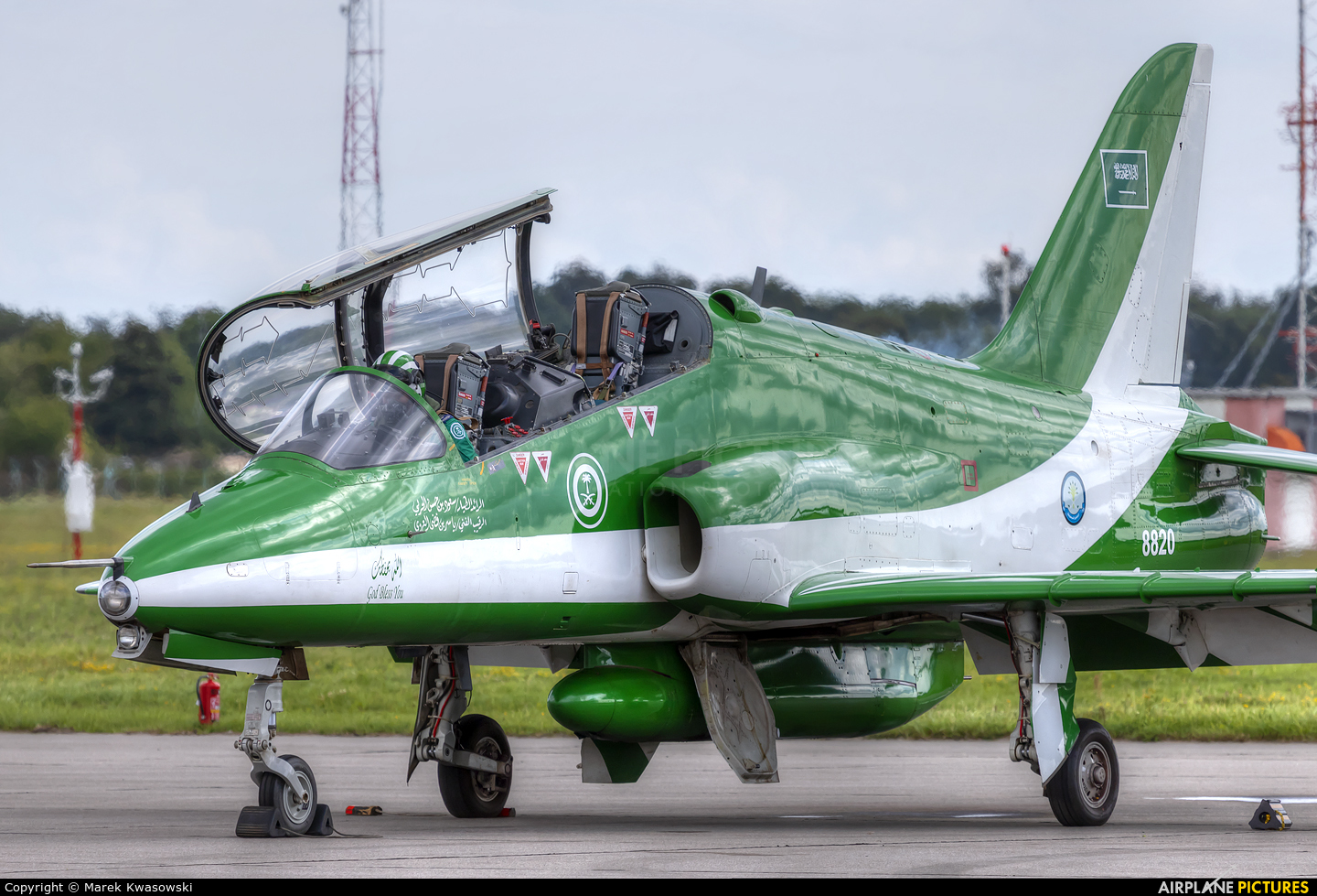 Saudi Arabia - Air Force: Saudi Hawks 8820 aircraft at Gdynia- Babie Doły (Oksywie)