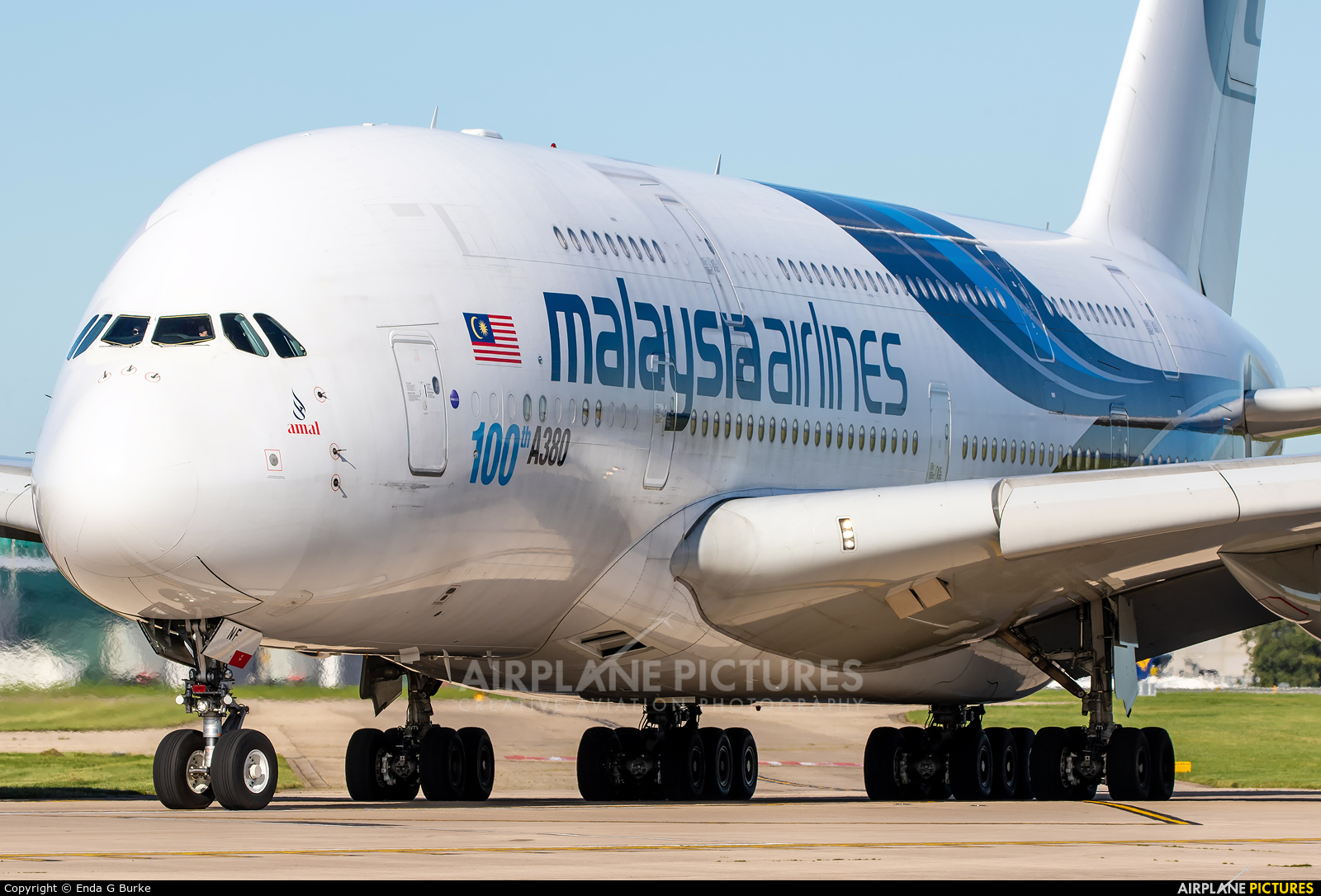 Malaysia Airlines 9M-MNF aircraft at Manchester