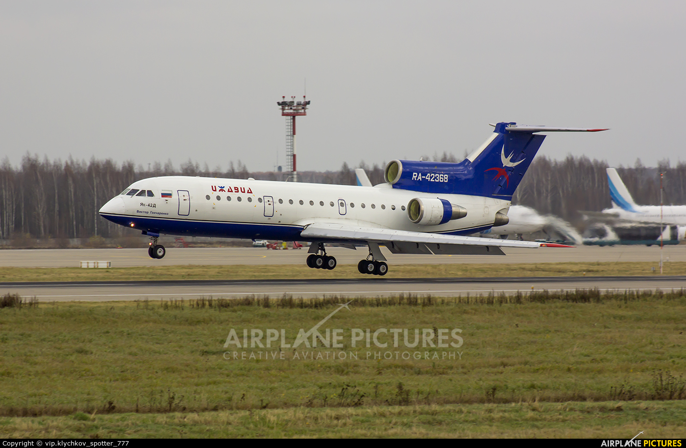 Izhavia RA-42368 aircraft at Moscow - Domodedovo