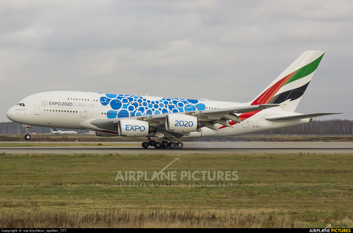 Emirates Airlines A6-EVH aircraft at Moscow - Domodedovo
