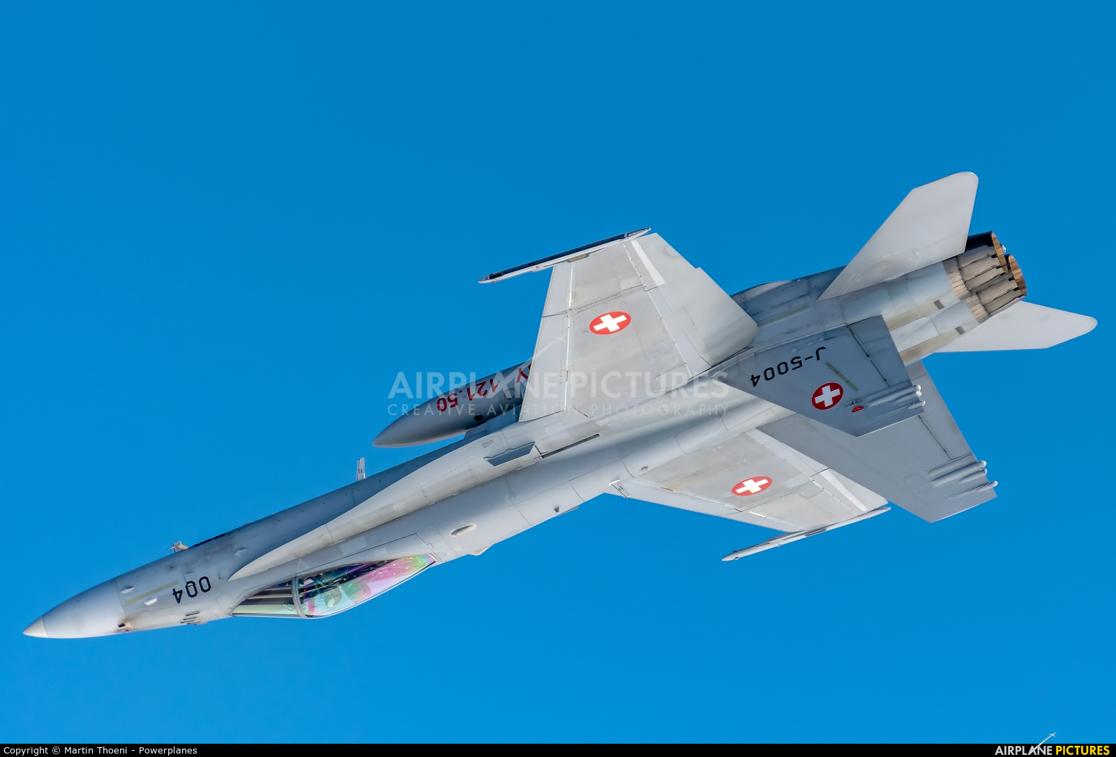 Switzerland - Air Force J-5004 aircraft at Axalp - Ebenfluh Range