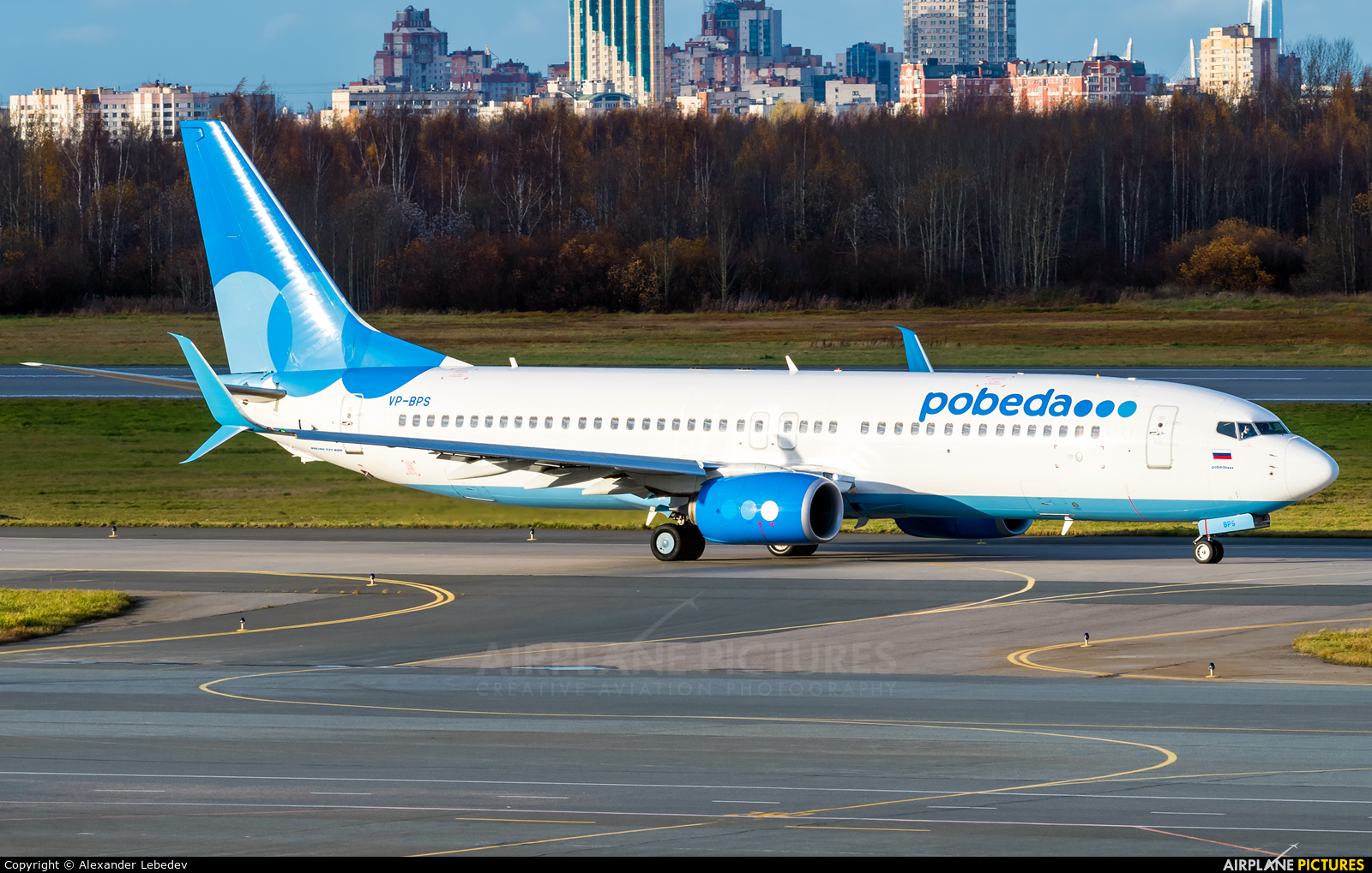 Pobeda VP-BPS aircraft at St. Petersburg - Pulkovo