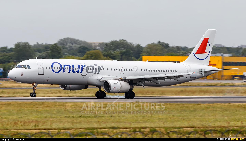 Onur Air LY-NVQ aircraft at Warsaw - Frederic Chopin