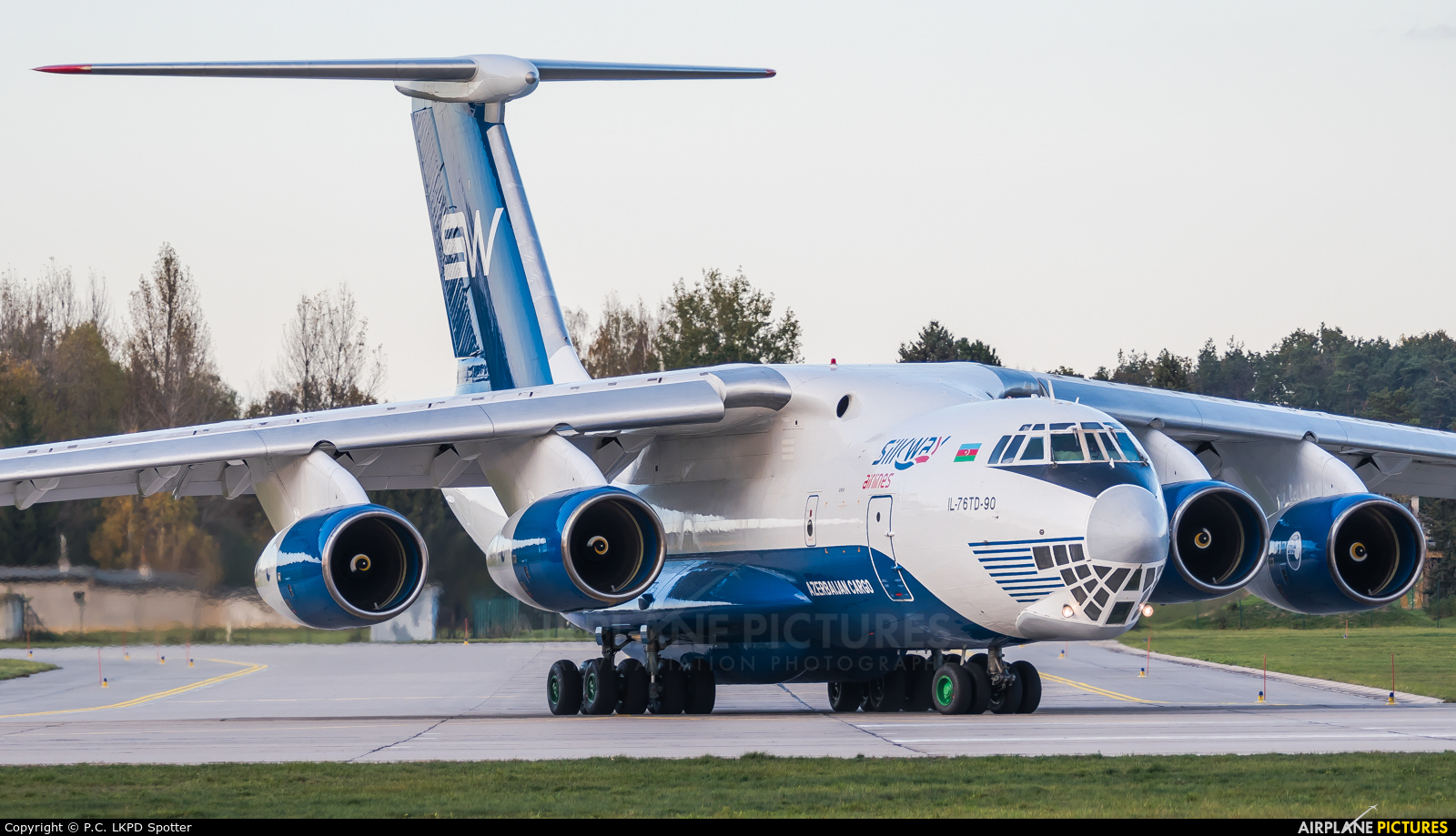Silk Way Airlines 4K-AZ100 aircraft at Pardubice