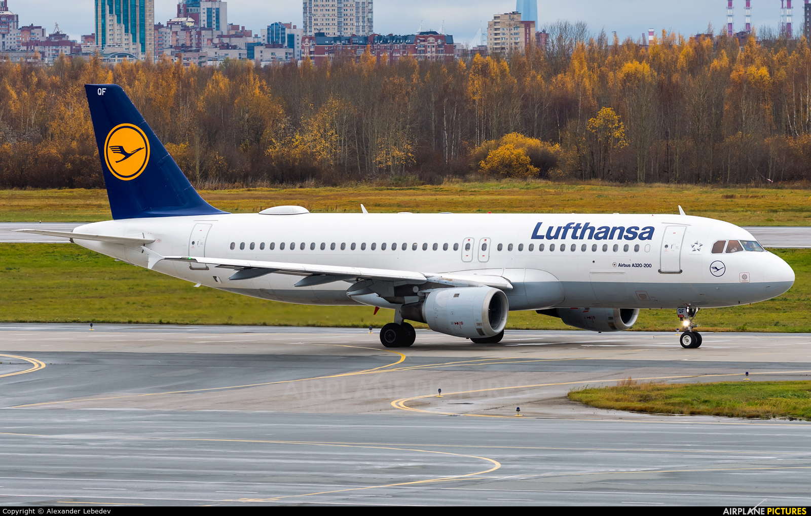 Lufthansa D-AIQF aircraft at St. Petersburg - Pulkovo