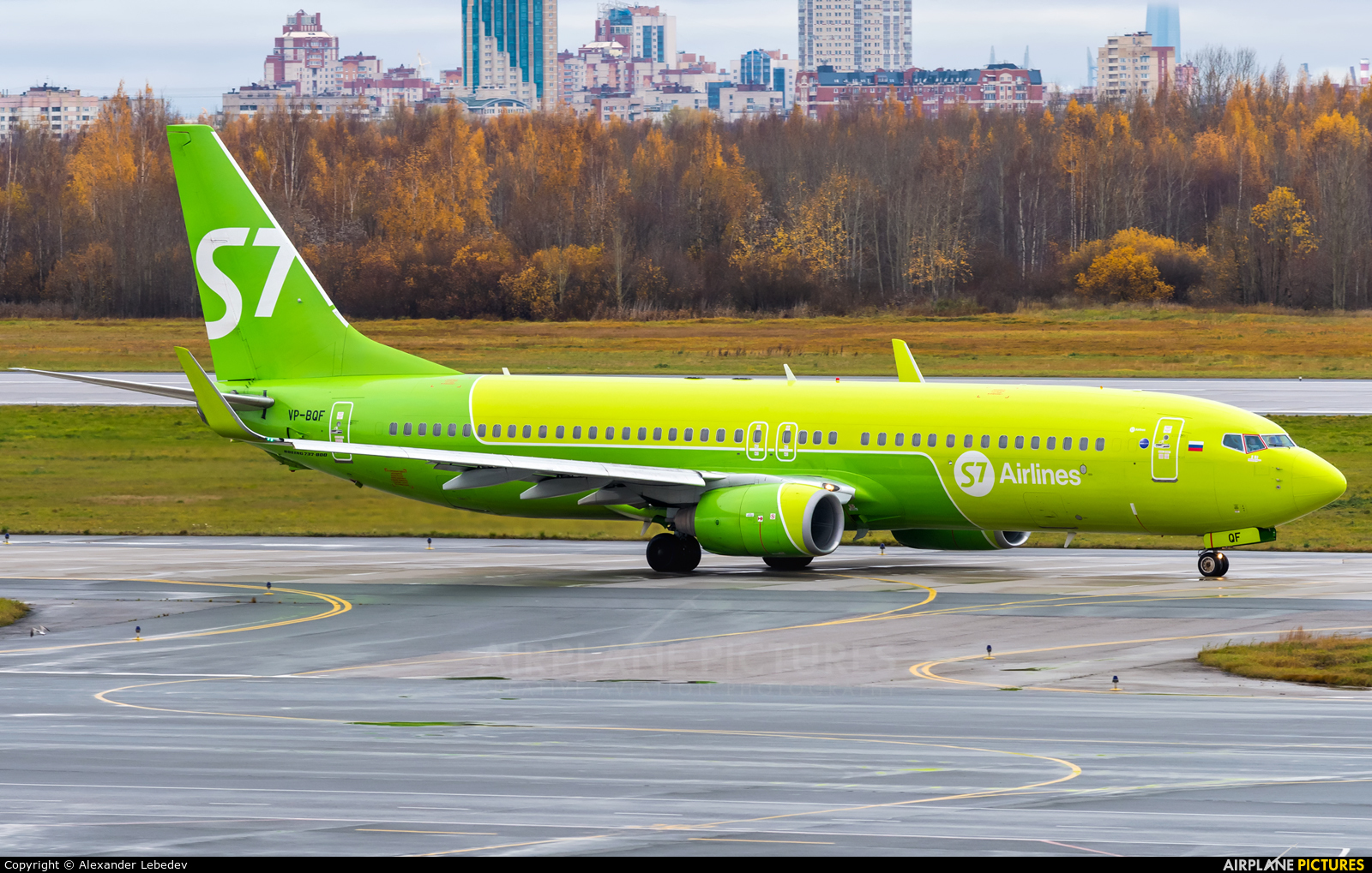 S7 Airlines VP-BQF aircraft at St. Petersburg - Pulkovo