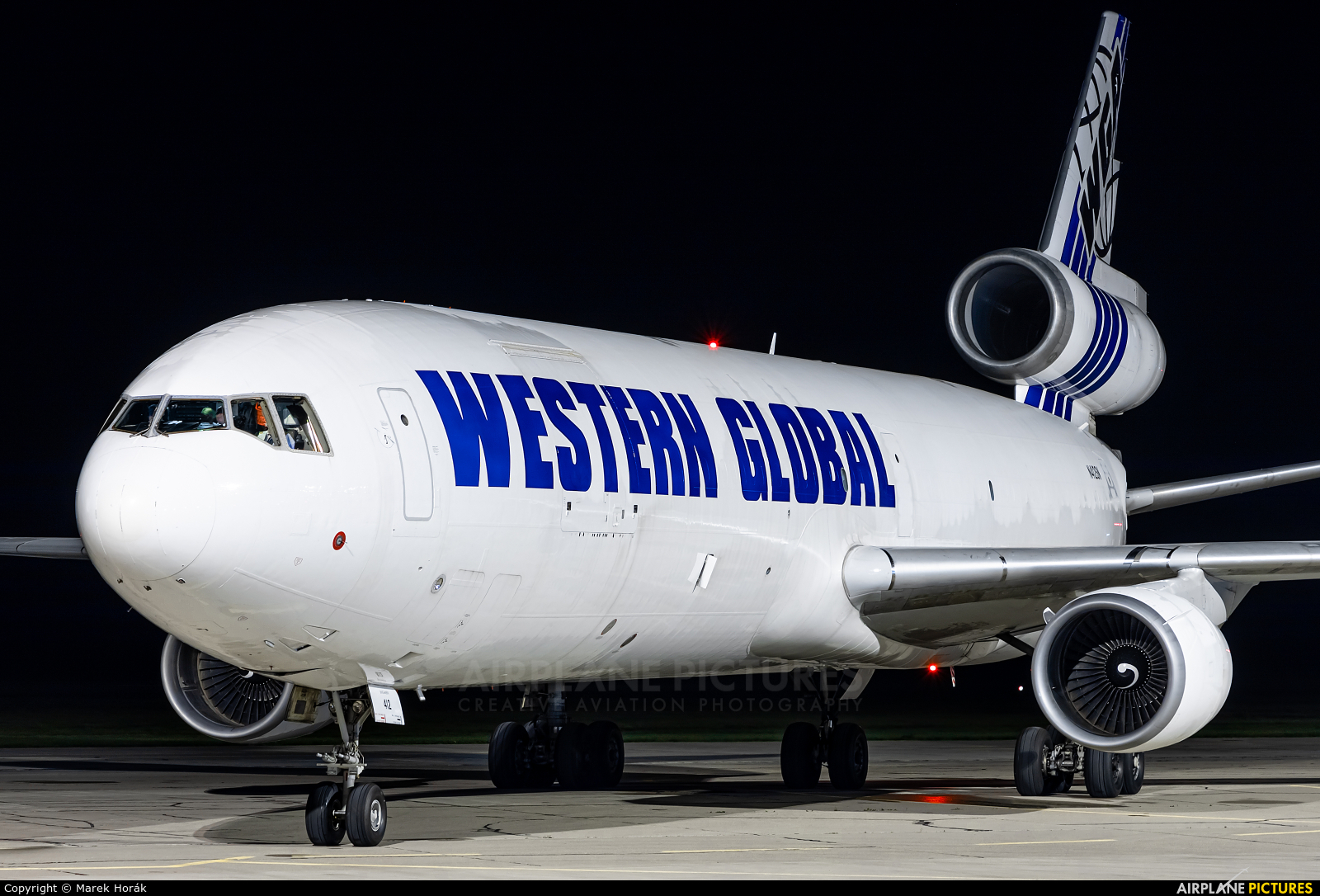 Western Global Airlines N412SN aircraft at Pardubice